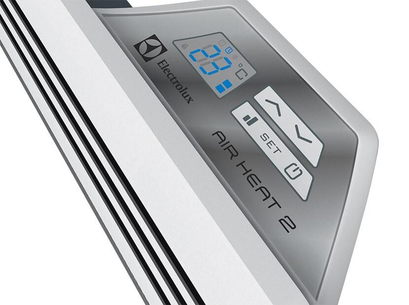 Конвектор электрический Electrolux EIH/AG2-1000 E10 м? - 1.0 кВт<br>Конвективно-инфракрасный обогреватель EIH/AG2-1000 E вместил в себе два типа обогрева: инфракрасный и конвективный. Прибор может размещаться на стене или полу в квартире, гараже, кафе или на балконе. Обогреватель работает при двух режимах мощности: половинной и полной мощности. Корпус выполнен из ударопрочного материала, защищающего от влаги и замерзания.<br>Основные преимущества электрических конвекторов серии Air Heat 2 с электронным управлением:<br><br>Конвективный и инфракрасный способы обогрева.<br>Рациональное распределение тепла без каких-либо потерь.<br>Нагревательный элемент Y-DUOS, обладающий большой поверхностью теплоотдачи.<br>Нано-полимерное покрытие нагревательного элемента, которое существенно увеличивает эффективность по сравнению с аналогами (скорость нагрева до заданной пользователем температуры выше на 15%).<br>Работа в двух режимах: полной и половинной мощности.<br>Высокоточный электронный термостат будет поддерживать заданную пользователем температуру с точностью до 0,1&amp;deg;С.<br>Ультрасовременный блок&amp;nbsp; управления нового поколения.<br>LED-дисплей.<br>Датчик защиты от перегрева, который фиксирует температуру внутри него и в случае перегрева размыкает электрическую цепь.<br>Автоматическое выключение при опрокидывании.<br>Влагозащищенный корпус класса IP24.<br>Два варианта размещения: стационарный (закрепляется на стене) и напольный (устанавливается на специальные ножки с роликами для мобильного перемещения из комнаты в комнату).<br><br>&amp;nbsp;<br>Air Heat 2 с электронным управлением &amp;ndash; это конвективно-инфракрасные электрические обогреватели нового поколения от компании Electrolux. Благодаря дополнительному инфракрасному излучению конвекторы этой серии действую подобно солнцу, быстро и бережно нагревая поверхности находящихся в рабочей зоне предметов. Такой принцип работы сделал приборы максимально эффективными и экономичными. Стоит отметить, что обогревате