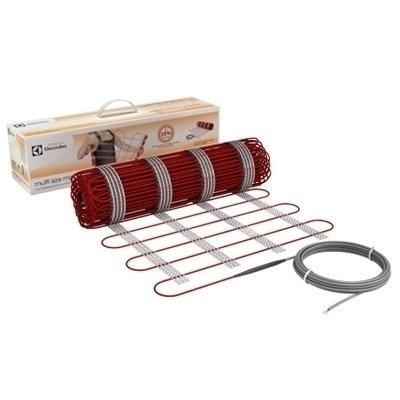 Теплый пол Electrolux EMSM 2-150-0,5Нагревательные маты<br>Комплект современной системы отопления  Теплый пол  модели EMSM 2-150-0,5 от известного шведского бренда Electrolux представляет собой высококачественный нагревательный мат, состоящий из ультратонкого двухжильного кабеля, нанесенного на самоклеящуюся основу. Такое решение максимально упрощает монтаж и сокращает время его произведения. Мат, благодаря современным технологиям, максимально устойчив к растягивающим нагрузкам, а также изломам и разрывам.<br>Основные преимущества использования рассматриваемой модели теплого пола от бренда  Electrolux:<br><br>Easy Fix Mat- самоклеящийся нагревательный мат.<br>Двухжильный кабель высокого качества.<br>Уникальная жила из арамидных нитей   синтетическое волокно высокой механической и термической прочности.<br>Инновационная текстильная основа.<br>Фторполимерная изоляция греющих жил.<br>Тройная изоляция греющего кабеля.<br>Максимальная экономия электрической энергии.<br>Автономная работа.<br>Высокое качество и надежность.<br>Удобство и комфорт в эксплуатации.<br>Экологически безопасен.<br>Рекомендуется для установки в плиточный клей  без стяжки .<br>Ровное распределение по поверхности пола.<br>Длительный срок безукоризненной службы.<br><br>Серия нагревательных матов от торговой марки Electrolux   это современное решение вопроса отопления, которое привнесет в жизнь пользователя комфорт и уют. Все модели отличаются незатруднительной установкой   нагревательные маты оснащены самоклеящейся текстильной основой, которая максимально равномерно ложится по всей поверхности без образования бугорков, создавая армирующий эффект. Изделия оснащены качественной трехступенчатой изоляцией, которая гарантирует безопасность эксплуатации. Стоит отметить, что системы теплого пола от компании Electrolux отличаются высокой эффективностью при минимальном потреблении электрической энергии. <br><br>Страна: Швеция<br>Удельная мощ., Вт/м?: 150<br>Площадь, м?: 0,5<br>Тип кабеля: Двужильный экранирова