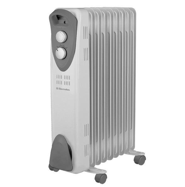 Масляный радиатор Electrolux EOH/M-3209Масляные радиаторы<br>Масляный радиатор ElectroLux (Электролюкс) EOH/M-3209 с девятью секциями будет отличным выбором для помещений различного типа, площадь которых достигает двадцати пяти квадратных метров. Агрегат имеет трехступенчатую регулировку мощности, позволяет изменять температуру нагрева. Радиатор легко перемещает из одного места в другое благодаря колесикам и удобной ручке. За счет своей ультракомпактной конструкции не занимает много полезного пространства в комнате.<br><br><br><br><br>Особенности и преимущества масляных радиаторов Electrolux серии EOH/M &amp;ndash; 3:<br><br>Три режима обогрева<br>Высоконадежный механический термостат<br>Простое эргономичное управление<br>Место для хранения шнура питания<br>Ручка для удобства передвижения<br>Ролики для перемещения<br>Уникальный дизайн<br>Высокая экологичность &amp;ndash; в качестве наполнителя используется экологичное масло HD-300, проходящее многоступенчатую систему очистки<br>Защита от опрокидывания &amp;ndash; встроенный датчик отключит масляный радиатор при отклонении включенного прибора от рабочего состояния или его опрокидывании<br>Защита от перегрева &amp;ndash; встроенный датчик отключит прибор в случае перегрева<br><br><br><br>&amp;nbsp;<br><br><br>&amp;nbsp;<br>Режимы работы:<br><br>Мощность обогрева 800Вт<br>Мощность обогрева 1200Вт<br>Мощность обогрева 2000Вт<br><br>&amp;nbsp;<br><br><br><br><br>Маслонаполненные радиаторы EOH/M &amp;ndash;3 от торговой марки Electrolux придутся по вкусу приверженцам минимализма. В их облике нет ничего лишнего: только четкость линий корпуса, нейтральная цветовая гамма, функциональные детали. Ассортимент семейства представлен моделями с пятью, семью, девятью и одиннадцатью секциями &amp;ndash; для помещений жилого, коммерческого и административного типа площадью до двадцати пяти квадратных метров. Приобретая в интернет-магазине mircli.ru масляные радиаторы Electrolux, вы становитесь обладателем надежных и эффективных прибо