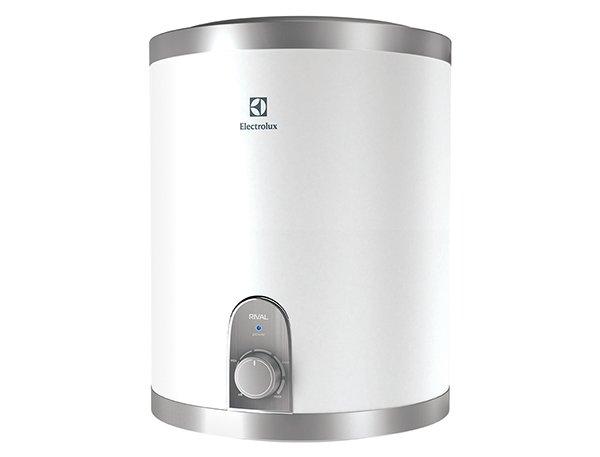 Электрический накопительный водонагреватель Electrolux EWH 10 Rival O10 литров<br>Небольшой десятилитровый водонагреватель Electrolux (Электролюкс) EWH 10 Rival O отличается достаточно высокой производительностью. Агрегат быстро подогреет воду и долго сохранит ее температуру. Накопительная емкость этой модели выполнена из пищевой стали высочайшего качества с низким содержанием углерода, что обуславливает длительный срок службы бака и устойчивость перед коррозией.<br>Особенности и преимущества электрических накопительных водонагревателей Electrolux (Электролюкс) серии EWH Rival:<br><br>Подключение воды снизу (O) и сверху (U);<br>Внутренний бак из высококачественной нержавеющей стали;<br>Нержавеющая сталь одобрена для использования в медицине и пищевом производстве;<br>Компактный размер;<br>Регулировка температуры от 30 до 75  С;<br>Индикатор нагрева;<br>Медный нагревательный элемент;<br>Эффективная плотная теплоизоляция корпуса (CFC-Free);<br>Защита от перегрева, защита от сухого нагрева, предохранительный клапан;<br>Возможность размещения в малогабаритных помещениях;<br>Экономичный режим: повышенный ресурс нагревательного элемента, защита от накипи, Обеззараживание воды;<br>Быстрый нагрев воды;<br>Высококачественная теплоизоляция из вспененного полиуретана;<br>Класс пылевлагозащищенности IPX4;<br>В комплект входит УЗО, которое обеспечивает безопасную эксплуатацию и надежно защищает как от поражения электрическим током, так и от пожара;<br>Комфорт и безопасность, функциональность и долговечность.<br><br> <br>Вам необходим резервный источник горячей воды? Или автономная системе ГВС для кухни? Компания Electrolux уже разработала решение этих задач: компактные водонагреватели семейства EWH Rival. Линейка представлена десяти- и пятнадцатилитровыми моделями, с верхней и нижней подводкой воды. Такие небольшие бойлеры вы сможете установить над или под раковиной даже в малогабаритной кухне и больше не беспокоиться об отключениях централизованного горячего водоснабжения. <br>