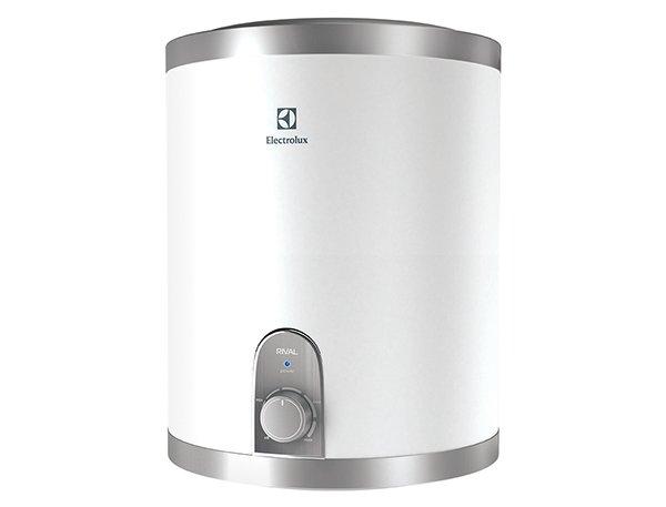 Водонагреватель Electrolux EWH 15 Rival O15 литров<br>Высокотехнологичный и невероятно компактный водонагреватель Electrolux (Электролюкс) EWH 15 Rival O оснащен механическим управлением с интуитивно понятным интерфейсом: на передней панели прибора расположена удобная ручка переключателя, посредством которой пользователь сможет задать необходимую температуру подогрева. Также имеется световая индикация, которая сообщит пользователю о готовности горячей воды сменой цвета или отключением лампочки.<br>Особенности и преимущества электрических накопительных водонагревателей Electrolux (Электролюкс) серии EWH Rival:<br><br>Подключение воды снизу (O) и сверху (U);<br>Внутренний бак из высококачественной нержавеющей стали;<br>Нержавеющая сталь одобрена для использования в медицине и пищевом производстве;<br>Компактный размер;<br>Регулировка температуры от 30 до 75 &amp;deg;С;<br>Индикатор нагрева;<br>Медный нагревательный элемент;<br>Эффективная плотная теплоизоляция корпуса (CFC-Free);<br>Защита от перегрева, защита от сухого нагрева, предохранительный клапан;<br>Возможность размещения в малогабаритных помещениях;<br>Экономичный режим: повышенный ресурс нагревательного элемента, защита от накипи, Обеззараживание воды;<br>Быстрый нагрев воды;<br>Высококачественная теплоизоляция из вспененного полиуретана;<br>Класс пылевлагозащищенности IPX4;<br>В комплект входит УЗО, которое обеспечивает безопасную эксплуатацию и надежно защищает как от поражения электрическим током, так и от пожара;<br>Комфорт и безопасность, функциональность и долговечность.<br><br>&amp;nbsp;<br>Вам необходим резервный источник горячей воды? Или автономная системе ГВС для кухни? Компания Electrolux уже разработала решение этих задач: компактные водонагреватели семейства EWH Rival. Линейка представлена десяти- и пятнадцатилитровыми моделями, с верхней и нижней подводкой воды. Такие небольшие бойлеры вы сможете установить над или под раковиной даже в малогабаритной кухне и больше не беспокоиться об отключени