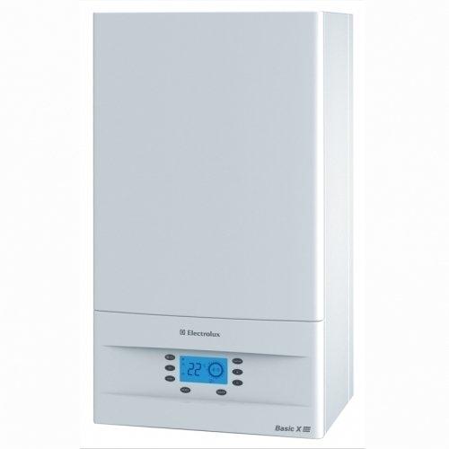 Котел Electrolux GCB 18 Basic Space Fi18 кВт<br>Настенный газовый котел  Electrolux (Электролюкс) GCB 18 Basic Space Fi. Производитель предусмотрел быструю адаптацию системы к малым отоплениям с современной электронной модуляцией пламени. Автоматической электронный розжиг и отдельный ионизационный контроль пламени гарантирует высокий уровень безопасности в процессе эксплуатации. Встроенный битермический теплообменник объединяет два контура с закрытой камерой сгорания.  <br>Технические возможности и функциональные преимущества газового отопительного оборудования компании Electrolux:<br><br>Система дистанционного беспроводного управления<br>Встроенная система погодозависимого управления<br>Система адаптации к малым системам отопления с электронной модуляцией<br>Автоматический электронный розжиг и надежный ионизационный контроль пламени<br>Интеллектуальная система самодиагностики с визуальным отображением кодов неисправностей<br>Возможность подключения комнатного термостата<br>Система безопасности автоматически отключает подачу газа при: погасании пламени, перегреве котла, недостаточном для безопасной работы давлении теплоносителя или расходе ГВС через теплообменник, нарушении отвода продуктов сгорания, неисправности электроники<br>Дополнительный режим работы -  тёплый пол  (Affect Flour)<br><br>Эффективная и высокопроизводительная серия Basic выгодно выделяется среди аналогов своим прогрессивным внешним видом, каждая линий конструкции подчеркивает техническое совершенство функциональных возможностей. Два контура и закрытая камера сгорания, улучшена система адаптации к небольшим отопительным системам с электронной модуляцией. Встроен современный и надежный битермический теплообменник, который способен идеально совмещать два контура. Безопасное совмещение отопления и горячего водоснабжения с закрытой камерой сгорания с высокоэффективной принудительной системой дымоудаления. Предусмотрено дистанционное беспроводное управление, пользователь может контролировать работу при