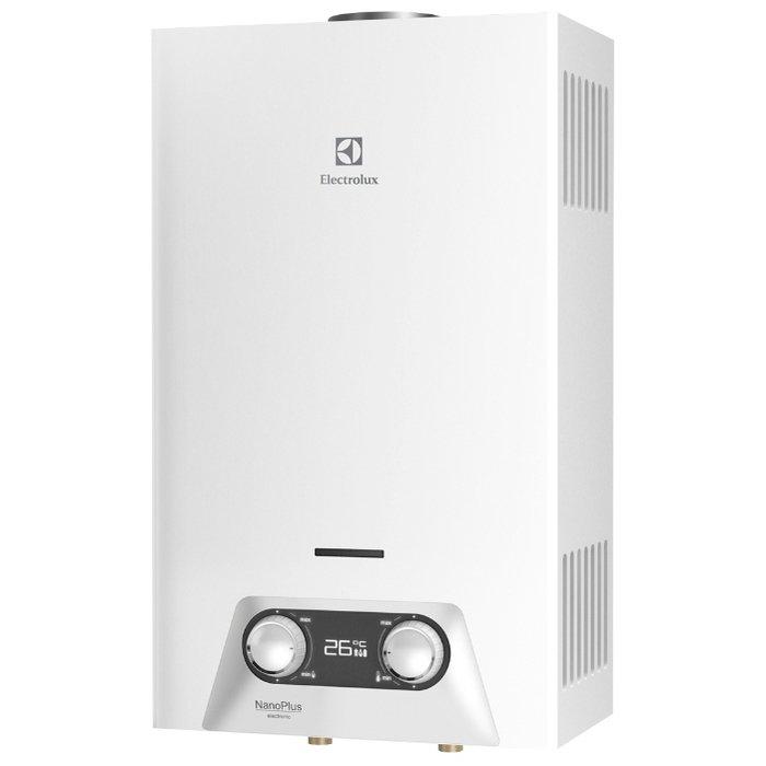 Водонагреватель Electrolux GWH 265 ERN NanoPlus16-21 кВт<br>Автоматический газовый проточный водонагреватель 20 кВт для квартиры&amp;nbsp;ElectroLux (Электролюкс)&amp;nbsp;GWH 265&amp;nbsp;ERN&amp;nbsp;NanoPlus&amp;nbsp;исполнен в классическом корпусе белоснежного цвета и обладает целым рядом уникальных преимуществ, в числе которых функция передового интеллектуального управления устройством, а также возможность производительной эксплуатации даже при низких показателях давления воды и газа. Данная бытовая модель оборудована многоуровневой системой безопасности.<br><br>Страна: Швеция<br>Производитель: Китай<br>Способ нагрева: Газовый<br>Производительность: 10,0<br>Темп. нагрева, С: 75<br>Давление на входе: 0,15 бар<br>Мощность, кВт: 20,0<br>Тип камеры: Открытая<br>Дисплей: Да<br>Защита: Есть<br>Установка: Настенная<br>Розжиг: Электророзжиг<br>Теплообменник: Медный<br>Модуляция мощности: Нет<br>Габариты ШхВхГ, см: 32.8х55х18<br>Вес, кг: 8<br>Гарантия: 2 года<br>Ширина мм: 328<br>Высота мм: 550<br>Глубина мм: 180