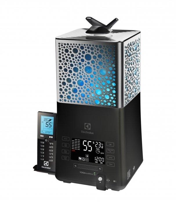 Увлажнитель воздуха Electrolux ecoBIOCOMPLEX YOGAhealthline EHU - 3810DУльтразвуковые<br>Компактный и максимально комфортный в использовании ультразвуковой увлажнитель Electrolux (Электролюкс) EHU - 3810D предназначен для поддержания благоприятного микроклимата в помещении за счет контроля за влажностью воздуха. Такое устройство станет идеальным решением проблемы пересушенного воздуха, что особенно актуально во время сезона отопления.<br>Основные достоинства увлажнителей серии BioCOMPLEX от торговой марки Electrolux:<br><br>Ультрафиолетовая лампа (длинна волны 264Нм)<br>Экранные часы (отключаемые)<br>Будильник HealthWake<br>3-цвет.релаксационное освещение RelaxTherapy<br>3 яркости освещения<br>2 отключаемых источника света: подсветка бака и парящая подсветка<br>Регулируемая длительность горения цветов<br>Программируемый таймер на отключение<br>Программируемый таймер на включение<br>Смена дисплеев (3 дисплея)<br>Ионизация<br>Дыхательный тренажёр PRANA с функцией индивидуальной настройки<br>Отключение программы будильника в 1 касание<br>Отключение звуковых сигналов<br>Таймер для медитаций<br>Таймер отключения через 24 часа<br>Блокировка управления<br>Деминерализующий фильтр-картридж<br>Щеточка для чистки мембраны<br>Гарантия 2 года<br><br>Увлажнители серии EHU-D Electrolux   это современные, достойные, компактные и привлекательные устройства, которые позволят за незначительнее время почувствовать настоящий комфорт, находясь в жилом или рабочем помещении. Модели предназначены для контроля за оптимальным уровнем влажности, что поспособствует поддержанию благоприятных климатических показателей.<br><br>Страна: Швеция<br>Производитель: Китай<br>Площадь, м?: 45<br>Площадь по очистке, м?: Нет<br>Обьем бака, л: 5<br>Колво режимов работы: 10<br>Расход воды, мл/ч: 450<br>Гигростат: Нет<br>Гигрометр: Да<br>Питание, В: 220 В<br>Звуковое давление, дБа: 25<br>Мощность, Вт: 30<br>Габариты ВхШхГ, см: 38,2x20,9x20,9<br>Вес, кг: 3<br>Гарантия: 2 года<br>Ширина мм: 209<br>Высота мм: 382