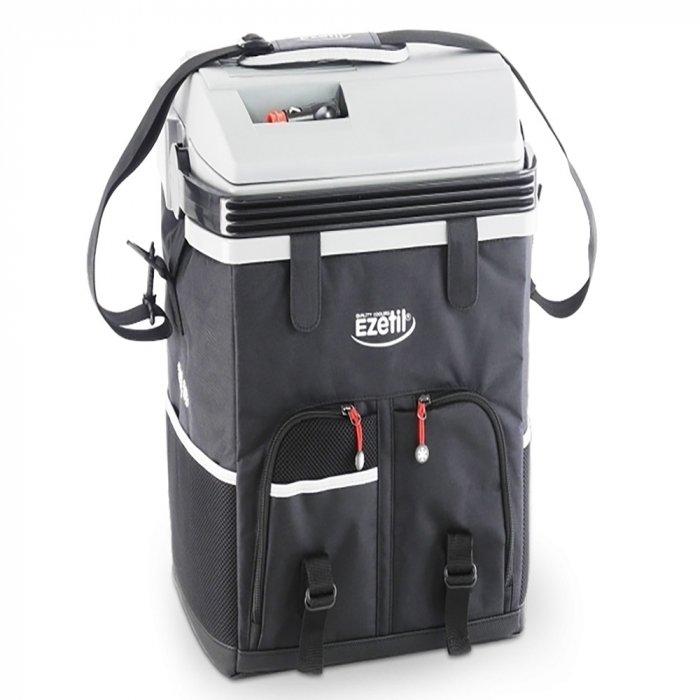 Термоэлектрический автохолодильник Ezetil ESC 28 12V21-30 литров<br>Стильный, компактный, портативный, эффективный, экономичный, надежный &amp;ndash; все это преимущества термоэлектрического автомобильного холодильника ESC 28 12V, который разработан торговой маркой Ezetil. Помимо этого, модель оборудована вместительной охлаждающей камерой, выполнена в прочном пластиковом корпусе и оснащена тканевым чехлом с удобным плечевым ремнем.<br>Особенности и преимущества термоэлектрических автохолодильников от компании Ezetil:<br><br>Температурные режимы работы: охлаждение;<br>Работа от бортовой сети автомобиля 12 вольт, а так же от домашней сети 220 вольт;<br>Отделка корпуса прочной, легко моющейся тканью с боковыми карманами-сетками;<br>Модель оснащена интеллектуальной системой энергосбережения;<br>Автомобильный холодильник оснащен съемным плечевым ремнем;<br>Шнуры питания вмонтированы в специальный отсек на верхней части крышки.<br><br>Общее устройство автохолодильника:<br><br>Приточный вентилятор.<br>Алюминиевый радиатор охлаждения.<br>Внутренняя камера из экологичного пластика.<br>Внешний корпус из ударопрочного пластика.<br><br>Торговая марка Ezetil разработала линейку термоэлектрических автомобильных холодильников, которые, безусловно, понравятся всем любителям дальних поездок или пикников. С такими охлаждающими агрегатами продукты и напитки дольше сохранят свою свежесть, а вы сможете обеспечить себе полезный рацион даже в командировке. Среди преимуществ таких устройств стоит выделить настоящее немецкое качество, компактные размеры и небольшой вес, а также нормальную работоспособность агрегатов при любом наклоне транспортного средства. Семейство представлено множеством моделей, которые отличаются оснащенностью, питанием, конструкцией и, конечно, дизайном и цветовыми решениями.<br><br>Страна: Германия<br>Объем, л: 27<br>Мощность, Вт: None<br>Питание, В: 12<br>Max температура, C: None<br>Min температура, C: None<br>Функция подогрева: None<br>Дельта t, C: 18<br>Кабель пит