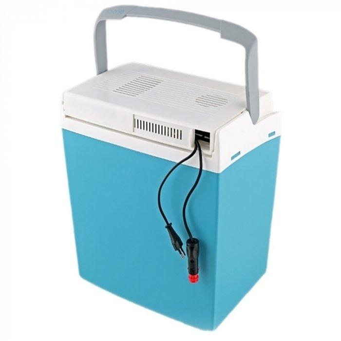 Автохолодильник термоэлектрический Ezetil E 26 12/230V EEI Boost21-30 литров<br>E 26 12/230V EEI Boost   это удобный компактный портативный термоэлектрический автомобильный холодильник, еще одна разработка бренда Ezetil. Внутренняя камера холодильника изготовлена из экологически чистого пластика, который допущен к контакту с пищевыми продуктами. Работает модель как от бортовой сети 12В, так и бытовой 230В. Отличается экономичностью и низкими шумовыми характеристиками.<br>Особенности и преимущества термоэлектрических автохолодильников от компании Ezetil:<br><br>Температурные режимы работы: охлаждение;<br>Работа от бортовой сети автомобиля 12 вольт, а так же от домашней сети 220 вольт;<br>Наличие фиксатора закрытого положения на крышке исключает выпадение содержимого камеры, так же данная модель оснащена дополнительным фиксатором крышки в полуоткрытом положении;<br>Модель оснащена интеллектуальной системой энергосбережения;<br>Шнуры питания вмонтированы в специальный отсек в тыльной части крышки.<br><br>Общее устройство автохолодильника:<br><br>Приточный вентилятор.<br>Алюминиевый радиатор охлаждения.<br>Внутренняя камера из экологичного пластика.<br>Внешний корпус из ударопрочного пластика.<br><br>Торговая марка Ezetil разработала линейку термоэлектрических автомобильных холодильников, которые, безусловно, понравятся всем любителям дальних поездок или пикников. С такими охлаждающими агрегатами продукты и напитки дольше сохранят свою свежесть, а вы сможете обеспечить себе полезный рацион даже в командировке. Среди преимуществ таких устройств стоит выделить настоящее немецкое качество, компактные размеры и небольшой вес, а также нормальную работоспособность агрегатов при любом наклоне транспортного средства. Семейство представлено множеством моделей, которые отличаются оснащенностью, питанием, конструкцией и, конечно, дизайном и цветовыми решениями.<br><br>Страна: Германия<br>Объем, л: 24<br>Мощность, Вт: None<br>Питание, В: 12/220<br>Max температура, C: None<br>Min те