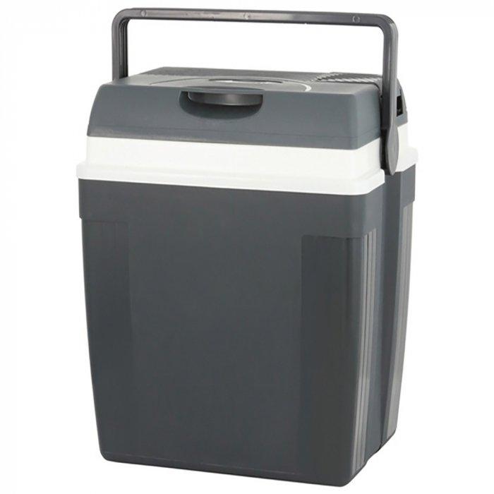 Термоэлектрический автохолодильник Ezetil E 27 N 12V LCD21-30 литров<br>Собрались на пикник? Тогда термоэлектрический автомобильный холодильник E 27 N 12V LCD от компании Ezetil. Устройство оснащено охлаждающей камерой на 24 литра, работает как на охлаждение, так и на подогрев, а для питания может использовать бортовую сеть 12В. Также стоит отметить, что агрегат тихо работает, выполнен в прочном корпусе из пластика, а его конструкция эргономична.<br>Особенности и преимущества термоэлектрических автохолодильников от компании Ezetil:<br><br>Температурные режимы работы: охлаждение и подогрев;<br>Работа от бортовой сети автомобиля 12 вольт;<br>Модель оснащена интеллектуальной системой энергосбережения;<br>Автомобильный холодильник оснащен дисплеем, отображающим температуру внутри камеры, а так же время;<br>Шнуры питания вмонтированы в специальный отсек в тыльной части крышки.<br><br>Общее устройство автохолодильника:<br><br>Приточный вентилятор.<br>Алюминиевый радиатор охлаждения.<br>Внутренняя камера из экологичного пластика.<br>Внешний корпус из ударопрочного пластика.<br><br>Торговая марка Ezetil разработала линейку термоэлектрических автомобильных холодильников, которые, безусловно, понравятся всем любителям дальних поездок или пикников. С такими охлаждающими агрегатами продукты и напитки дольше сохранят свою свежесть, а вы сможете обеспечить себе полезный рацион даже в командировке. Среди преимуществ таких устройств стоит выделить настоящее немецкое качество, компактные размеры и небольшой вес, а также нормальную работоспособность агрегатов при любом наклоне транспортного средства. Семейство представлено множеством моделей, которые отличаются оснащенностью, питанием, конструкцией и, конечно, дизайном и цветовыми решениями.<br><br>Страна: Германия<br>Объем, л: 27<br>Мощность, Вт: None<br>Питание, В: 12<br>Max температура, C: None<br>Min температура, C: None<br>Функция подогрева: None<br>Дельта t, C: 16<br>Кабель питания: Есть<br>Назначение: Автохолодильник<br>Габари