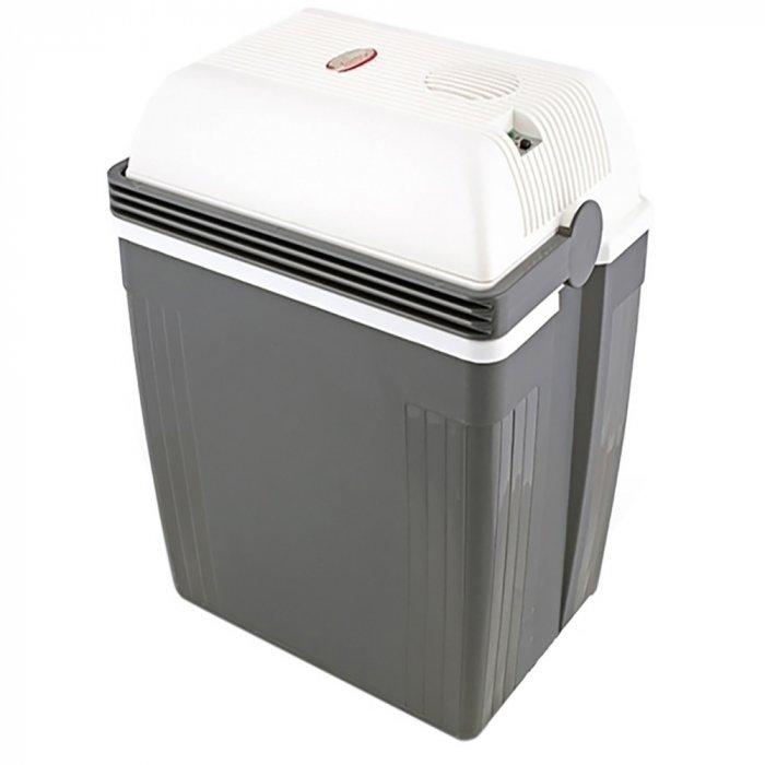 Термоэлектрический автомобильный холодильник Ezetil E 27 S TURBOFRIDGE 12/230V21-30 литров<br>Автомобильный холодильник термоэлектрического типа Ezetil E 27 S TURBOFRIDGE 12/230V с функцией подогрева   отличный спутник в дальних поездках. Агрегат оснащен двадцатисемилитровой охлаждающей камерой, может вместить полуторалитровую бутылку с напитком, а работает и от бортовой сети 12В, и от бытовой 230В. Кроме того, холодильник выполнен в ударопрочном пластиковом корпусе и отличается низкими шумовыми характеристиками.<br>Особенности и преимущества термоэлектрических автохолодильников от компании Ezetil:<br><br>Температурные режимы работы: охлаждение и подогрев;<br>Работа от бортовой сети автомобиля 12 вольт, а так же от домашней сети 220 вольт;<br>Модель оснащена интеллектуальной системой энергосбережения;<br>Автомобильный холодильник оснащен полностью съемной крышкой дял более удобного заполнения внутренней камеры;<br>Шнуры питания вмонтированы в специальный отсек в тыльной части крышки.<br><br>Общее устройство автохолодильника:<br><br>Приточный вентилятор.<br>Алюминиевый радиатор охлаждения.<br>Внутренняя камера из экологичного пластика.<br>Внешний корпус из ударопрочного пластика.<br><br>Торговая марка Ezetil разработала линейку термоэлектрических автомобильных холодильников, которые, безусловно, понравятся всем любителям дальних поездок или пикников. С такими охлаждающими агрегатами продукты и напитки дольше сохранят свою свежесть, а вы сможете обеспечить себе полезный рацион даже в командировке. Среди преимуществ таких устройств стоит выделить настоящее немецкое качество, компактные размеры и небольшой вес, а также нормальную работоспособность агрегатов при любом наклоне транспортного средства. Семейство представлено множеством моделей, которые отличаются оснащенностью, питанием, конструкцией и, конечно, дизайном и цветовыми решениями.<br><br>Страна: Германия<br>Объем, л: 27<br>Мощность, Вт: None<br>Питание, В: 12/220<br>Max температура, C: None<br>Min температура, 