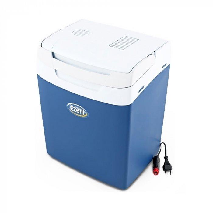 Термоэлектрический автохолодильник Ezetil E 32 M 12/230V21-30 литров<br>Портативный компактный автомобильный холодильник термоэлектрического типа E32 M12/230V   это еще одна разработка от торговой марки Ezetil. Вместительная камера охлаждения, низкое энергопотребление, высокая эффективность работы и минимальные шумовые характеристики   все это преимущества представленной модели. Агрегат также отличается эргономичной конструкцией и стильным дизайном.<br>Особенности и преимущества термоэлектрических автохолодильников от компании Ezetil:<br><br>Температурные режимы работы: охлаждение;<br>Работа от бортовой сети автомобиля 12 вольт;<br>Наличие фиксатора закрытого положения на крышке исключает выпадение содержимого камеры, так же данная модель оснащена дополнительным фиксатором крышки в полуоткрытом положении;<br>Удобный регулятор интенсивности охлаждения обеспечивает максимальный контроль температуры;<br>Модель оснащена интеллектуальной системой энергосбережения;<br>Шнуры питания вмонтированы в специальный отсек в тыльной части крышки.<br><br>Общее устройство автохолодильника:<br><br>Приточный вентилятор.<br>Алюминиевый радиатор охлаждения.<br>Внутренняя камера из экологичного пластика.<br>Внешний корпус из ударопрочного пластика.<br><br>Торговая марка Ezetil разработала линейку термоэлектрических автомобильных холодильников, которые, безусловно, понравятся всем любителям дальних поездок или пикников. С такими охлаждающими агрегатами продукты и напитки дольше сохранят свою свежесть, а вы сможете обеспечить себе полезный рацион даже в командировке. Среди преимуществ таких устройств стоит выделить настоящее немецкое качество, компактные размеры и небольшой вес, а также нормальную работоспособность агрегатов при любом наклоне транспортного средства. Семейство представлено множеством моделей, которые отличаются оснащенностью, питанием, конструкцией и, конечно, дизайном и цветовыми решениями.<br><br>Страна: Германия<br>Объем, л: 29<br>Мощность, Вт: None<br>Питание, В: 12/220