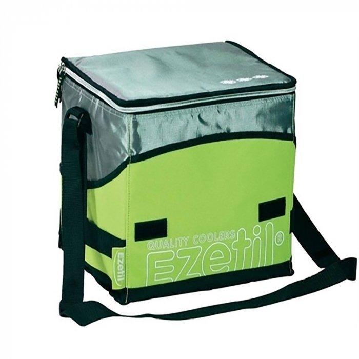 Сумка-термос Ezetil KC Extreme 16 green 16 литровСумки-холодильники<br>Сумка-термос Ezetil KC Extreme 16 green отлично подойдет любителям активного отдыха, загородных прогулок или путешественников. Благодаря современным технологиям термосумка прекрасно держит температуру в течении длительного времени. Для наилучшего эффекта рекомендуется приобретать аккумуляторы температуры (отдельно). Сумка выполнена в стильном и ярком дизайне зеленого цвета, обладает вместимостью16 л. Оборудована плечевым ремнем для удобства транспортировки. Легко моется.<br>Особенности и преимущества сумок-термосов представленной серии от компании Ezetil:<br><br>Основной изоляционный слой толщиной7 миллиметров, внутренний слои обеспечивает удержание температуры внутри термосумки, а внешняя ткань способствует снижению воздействия на содержимое сумки температуры окружающей среды.<br>Изделие произведено с использованием экологически безопасных и гигиеничных материалов, как внутри, так и снаружи, не содержащих в себе поливинилхлорид.<br>Внутренняя камера изготовлена из экологически чистых материалов, допускается к контакту с пищевыми продуктами и соответствует экологическим стандартам и нормативам EC.<br>100% герметичность изотермической сумки обеспечивается современной технологией горячей спайки внутренних швов.<br>Многослойная изоляция обеспечивает надежное удержание температуры помещенных в  сумку продуктов при ее максимальном заполнении в течение нескольких часов.<br><br>Серия современных, практичных и удобных в использовании изотермических сумок KC Extreme от известного немецкого производителя   компании Ezetil поражает разнообразием моделей, где абсолютно каждый сможет подобрать изделие, которое придется по душе именно ему. Модели различны по объему, габаритным размерам и цветовым решениям. Стоит отметить, что вся серия отличается высоким качеством материалов изготовления, каждое изделие проходит персональное тестирование в лабораториях IPV Gmbh.<br><br>Страна: Германия<br>Объем, л: 16<br>Мощно
