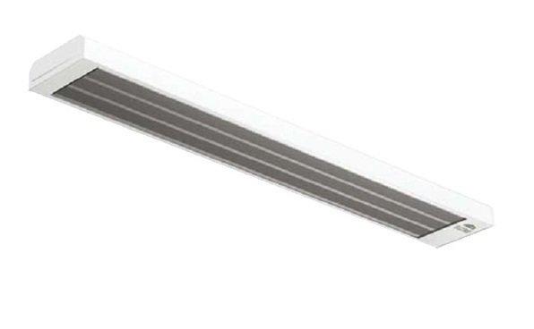 Инфракрасный обогреватель Frico EZ111N1 кВт<br>Плоские инфракрасные обогреватели – оборудование, которое предназначено для монтажа под потолком на высоте до 4 метров. Elztrip EZ111N от Frico – это инфракрасный обогреватель с одной излучающей панелью, способный обеспечить высокий уровень комфорта в помещениях самого различного назначения.<br>Особенности инфракрасного оборудования для обогрева серии Elztrip EZ100 Frico:<br><br>Типа оборудования: инфракрасные обогреватели;<br>Особенности конструкции – однопанельные;<br>Оборудование оптимально для работы в помещениях с высотой потолка до 4 метров;<br>Основное назначение ИК обогревателей данной серии – защита от сквозняков;<br>Возможность использования приборов для зонального или локального обогрева;<br>Конструкция излучающих панелей обеспечивает наилучшее распределение тепла;<br>Корпус обогревателей изготовлен из коррозионностойкой оцинкованной стали;<br>Излучающие панели изготавливаются из анодированного алюминия;<br>Приборы можно подключать сериями;<br>Допускается эксплуатация во влажных помещениях – класс защиты корпуса IP44;<br>Эффективная работа в различных условиях – даже при отрицательной температуре окружающего воздуха;<br>Установка под потолком различными способами (на скобах, растяжках или тросах);<br>Монтажный комплект (скобы для установки на стену) входят в комплект;<br>Обогреватели требуют минимального обслуживания при эксплуатации;<br>Приборы работают абсолютно бесшумно, отсутствует инерционность.<br><br>Панельные обогреватели серии Elztrip EZ100 Frico, излучающие тепло в инфракрасном диапазоне, предназначены для монтажа под потолком – только так обеспечивается наиболее эффективное распределение тепла. Серия EZ100 представлена тремя моделями мощностью от 600 до 1500 Вт. Приборы могут работать как по отдельности, так и группами – в зависимости от выбранного устройства управления. Из конструктивных особенностей данной серии можно выделить излучающую панель – главный элемент инфракрасного обогревателя. В оста