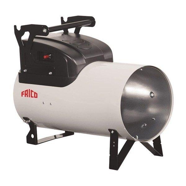 Газовый теплогенератор Frico HG105AГазовые пушки<br>Газовый теплогенератор для воздушного отопления Frico (Фрико) HG105A может использоваться ежедневно   устройство оснащено предохранительным термостатом и надежными деталями комплектации. Применяется оборудование для обогрева помещений с большой площадью. Нагреватель отличается высоким показателем КПД и при этом потребляет небольшое количество топлива. Газовые теплогенераторы для воздушного отопления Frico серии Heaters Gas считаются универсальными в эксплуатации и отлично подойдут для использования в административных помещениях с хорошей вентиляцией.<br><br>Страна: Швеция<br>Производитель: Швеция<br>Тип: Газовый<br>Мощность, кВт: 108,71<br>Площадь, м?: 1085<br>Скорость потока м/с: None<br>Расход топлива, кг/час: 6,899<br>Расход воздуха, мsup3;/ч: 3700<br>Нагревательный элемент: Трубчатый<br>Вместимость бака, л: Нет<br>Регулировка температуры: Есть<br>Вентиляция без нагрева: Нет<br>Настенный монтаж: Нет<br>Влагозащитный корпус: Нет<br>Напряжение, В: 220 В<br>Вилка: Есть<br>Размеры ВхШхГ, см: 43,8x83,5x60,6<br>Вес, кг: 26<br>Гарантия: 3 года