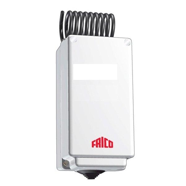 Термостат Frico KRT1900Терморегуляторы<br>Изделие Frico  KRT1900 представляет собой высокопрочный капиллярный термостат, полностью защищенный от прямого попадания воды, забивания пыли внутрь корпуса и износа с течением времени. Позволяет регулировать температуру в промежутке от 0 до +40 градусов и сжулит для снижения расхода энергопотребления.<br>Особенности KRT1900:<br><br>Управление процессами обогрева/охлаждения, вентиляторами и электроприводами вентилями; .<br>Поддержание уровня температуры внутри помещения в диапазоне от 0 до 40 C;<br>Обеспечивает комфортные условия при минимальных затратах электроэнергии;<br>Шкала настройки температуры;<br>Идеально подходит для помещений с резкими перепадами температур;<br>Корпус из термостойкого пластика;<br>Класс защиты   IP55.<br><br><br>Страна: Швеция<br>Мощность, кВт: None<br>Канальная мощность, кВт: None<br>Длина, м: None<br>Программирование: None<br>Площадь, м?: None<br>Управление: None<br>Функция защиты от перегрева: None<br>Тип кабеля: None<br>Размер, мм: 165x57x60<br>Напряжение, В: 220 В / 380 В<br>Вес, кг: 1<br>Гарантия: 3 года<br>Ширина мм: 57<br>Высота мм: 165<br>Глубина мм: 60