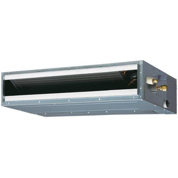 VRF система Fujitsu ARXD18GALHКанальные<br>Узкопрофильный канальный внутренний блок Fujitsu (Фуджитсу) ARXD18GALH подходит для настенной и потолочной установки в помещениях любого предназначения. Благодаря своим небольшим габаритам, конструкцию не видно, где бы она ни была установлена. Во время режима обогрева помещения, строенный вентилятор подает теплый воздух на уровне пола. Удобное управление обеспечивает комфортное использование агрегата.<br>Особенности и преимущества:<br><br>Компактный корпус.<br>Различные варианты монтажа.<br>Широкий диапазон рабочего статического давления.<br>Насос отвода конденсата.<br>Бесшумный режим.<br><br>Канальные внутренние блоки для систем мультизонального кондиционирования Fujitsu   это отличное решение для помещений сложной формы. Такие модули монтируются за потолком или встраиваются в стену, а обработанный воздух поступает в помещение по специальному воздуховоду. Еще один плюс блоков этого типа   возможность обслуживания более одной комнаты при создании каналов для прохода воздуха в другие помещения.<br><br>Страна: Япония<br>Производитель: Япония<br>Охлаждение, кВт: 5,6<br>Обогрев, кВт: 6,3<br>Площадь м?: 55<br>Потребление охл, кВт : 0,083<br>Потребление тепло, кВт : 0,083<br>Расход воздуха, м3/ч: 940<br>Рабочий ток, А: None<br>Фреон Хладагент: R410a<br>Мин. уровень шума, дБа: 28<br>Макс. уровень шума, дБа: 34<br>диаметр жидкостной линии, дюйм: 3/8<br>диаметр газовой линии, дюйм: 5/8<br>Отвод конденсата, мм: 25; 32<br>Питаниев/Гц/Ф: 230/50/1<br>Габариты блока ШxВxГ, мм: 900х198х620<br>Вес, кг: 22<br>Гарантия: 3 года
