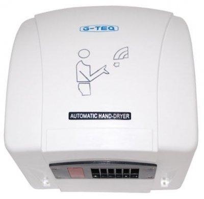 Пластиковая сушилка для рук G-teq 8851 PWАнтивандальные<br>G-teq 8851 PW   это высококачественная сушилка для рук в ударопрочном корпусе из ABS пластика, который обладает повышенными износоустойчивыми свойствами и эластичностью. Представленный прибор оснащен инфракрасным датчиком, который автоматически включает сушилку при поднесении рук в рабочую зону, а выключает автоматически через 30 секунд. Стоит отметить, что блок управления сушилки для рук имеет предохранитель от перегрева и термоконтроль, что обеспечивает сохранность и долгий срок службы прибора. Рассматриваемая модель сушилки для рук идеально подойдет для установки в общественных туалетах.<br>Комплект поставки:<br><br>Cушилка для рук   1шт.<br>Руководство по эксплуатации   1шт.<br>Комплект крепежа   1шт.<br>Упаковочная коробка   1шт.<br><br><br><br>Страна: Китай<br>Мощность, кВт: 1,5<br>Материал корпуса: Пластик<br>Поток воздуха м/с: 16<br>Степень защиты: IP21<br>Цвет корпуса: Белый<br>Минимальный уровень шума, дБа: 78<br>Объем воздушного потока, м3/час: None<br>Средняя скорость высушивания, сек: 30<br>Температура воздушного потока, С: 50<br>Размеры, мм: 240х200х280<br>Вес, кг: 3<br>Гарантия: 1 год