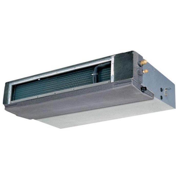 Канальный кондиционер General Climate GC/GU-DH96HWN117 кВт - 60 BTU<br>Профессиональный и высокомощный канальный кондиционер модели General Climate (Дженерал Климат) GC/GU-DH96HWN1 идеально служит в российском климате, не производит громкого шума и имеет надежную и функциональную систему управления. Такое устройство отлично подходит для использования на разнообразных объектах с большой обслуживаемой территорией.<br>Особенности и преимущества кондиционеров General Climate представленной серии:<br><br>охлаждение/обогрев<br>высоконапорный<br>низкотемпературный комплект на охлаждение<br>возможность воздухозабор снизу<br>рабочая температура в помещении 17-30 С<br>автоматический перезапуск<br>проводной пульт<br><br>Канальные кондиционеры последнего поколения с неинверторным управлением от General Climate серии DN-HWN1   это технологичное профессиональное оборудование, предназначенное для работы на различных производственных предприятиях, а также на объектах коммерческого и административного назначения. Кондиционеры работают со стабильной повышенной производительностью и служат на протяжении многих лет. <br><br>Страна: Китай<br>Охлаждение, кВт: 28.1<br>Обогрев, кВт: 31.0<br>Компрессор: Не инвертор<br>Площадь, м?: 280<br>Потребляемая мощность охлаждения, Квт: 9.7<br>Потребляемая мощность обогрева, Квт: 10.3<br>Воздухообмен, мsup3;/ч: 5100<br>Габариты внеш. блока ВШГ: 700x1255x908<br>Осушение, л/час: None<br>Габариты внут. блока, ВШГ: 760x1350x450<br>Уровень шума внеш/внутр.б., Дба: /50<br>Вес внеш. блока, Кг: 187<br>Вес внутр. блока, Кг: 105<br>Длина трассы, м: Нет<br>Режимы работы: Холод / тепло<br>Режим приточной вентиляции: Нет<br>Сенсор движения: Нет<br>Фильтры тонкой очистки воздуха: Нет<br>Гарантия: 3 года