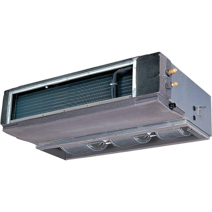 Канальный кондиционер General Climate7.0 кВт - 24 BTU<br>Высокопроизводительный канальный кондиционер General Climate (Дженерал Климат) GC/GU-DN24HWN1 отлично подойдет для размещения на объектах как коммерческого, так и бытового типа и будет эффективно работать на протяжении многих лет. Представленное устройство отличается оригинальным способом установки, благодаря которому вид корпуса внутреннего блока не портит интерьер обслуживаемых помещений.<br>Особенности и преимущества канальных кондиционеров General Climate серии GC/GU-DN:<br><br>Предназначены для скрытой установки и кондиционирования помещений посредство воздуховодов с возможностью подмеса свежего атмосферного воздуха.<br>Вывод раздачи и забора воздуха из помещения осуществляется через вентиляционные решётки или диффузоры, которые идеально впишутся в любой интерьер.<br>Автоматический перезапуск.<br>Адаптированы для работы в режиме охлаждения при низкой уличной температуре.<br>Рабочая температура воздуха в помещении (С): +17~+30.<br>Проводной пульт управления: KJR-12B/DP(T)/E.<br><br>Канальные сплит-системы серии General Climate GC/GU-DN   подходящее решение для одного или нескольких помещений, где установка визуально видимого климатического оборудования нежелательна или невозможна. Прибор устанавливается скрыто, а воздух, очищенный и охлажденный или прогретый, подается в помещение по каналам вентиляции или через декоративные решетки.<br><br>Страна: Великобритания<br>Охлаждение, кВт: 7.1<br>Обогрев, кВт: 7.6<br>Компрессор: Не инвертор<br>Площадь, м?: 70<br>Потребляемая мощность охлаждения, Квт: 2.6<br>Потребляемая мощность обогрева, Квт: 2.5<br>Воздухообмен, мsup3;/ч: 1400<br>Габариты внеш. блока ВШГ: 695x845x335<br>Осушение, л/час: None<br>Габариты внут. блока, ВШГ: 270x920x570<br>Уровень шума внеш/внутр.б., Дба: 45/38<br>Вес внеш. блока, Кг: 53<br>Вес внутр. блока, Кг: 30<br>Длина трассы, м: 25<br>Режимы работы: холод / тепло<br>Режим приточной вентиляции: Есть<br>Сенсор движения: Нет<br>Фильтры тонкой очи