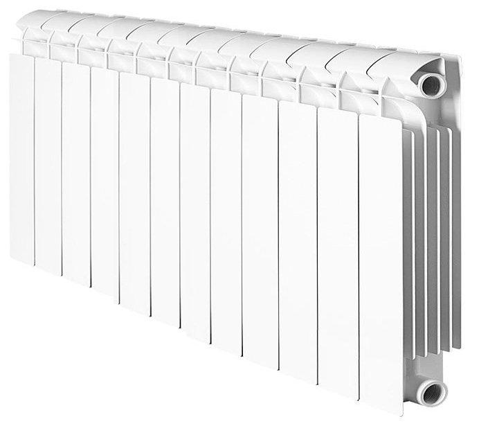 Радиатор отопления Global Style Extra 350 12 секц.Биметаллические<br>Модель радиатора Global (Глобал) Style Extra 350 12 секц. сочетает европейский дизайн с прекрасной теплоотдачей, благодаря большой площади алюминиевого корпуса, сваренного под давлением с внутренней системой стальных коллекторов горизонтального и вертикального направления. Стальная поверхность, с нанесенным специальным защитным слоем, гарантированно выдерживает многолетний срок эксплуатации при, практически полной, нечувствительности к чистоте и щелочности теплоносителя.<br>Особенности секционного радиатора отопления серии Global Style Extra 350:<br><br>Биметаллический секционный радиатор<br>Неразборная конструкция со стальным коллектором<br>Подходит для работы с любым типом теплоносителя: вода, атифриз, пар, масло<br>Межосевое расстояние350 мм<br>Высокая степень надёжности<br>рабочее давление - до 3,5 МПа (35 атм.)<br>давление при гидравлических испытаниях - до до 7.42 МПа (74.2 атм.)<br>разрушающее давление - свыше 6,2 МПа (62 атм.)<br>температура теплоносителя - до 110 С<br>показатель pH теплоносителя - от 7 до 9,5<br>срок службы - не менее 10 лет с даты производства при условии соблюдения инструкций по установке радиаторов и условий их эксплуатации<br>сфера применения - административные, производственные и жилые здания любой этажности<br>Настенный вариант установки<br>Стильный современный облик<br>100% эффективность обогрева<br>Для оптимальной теплоотдачи расстояние между радиатором и полом должно быть больше 100 мм, между радиатором и подоконником не менее 100мм и до стены не должно быть болнее 30 мм<br>Жесткий контроль качества на производстве.<br><br>Тонкий корпус, изящный итальянский дизайн и удобный, настенный монтаж   все это серия радиаторов отопления биметаллического типа Global Style Extra 350 с межосевым расстоянием 350 миллиметров. Все изделия изготовлены по технологии нового поколения, что гарантирует высокую эффективность в теплоотдаче и абсолютную безопасность использования. В под