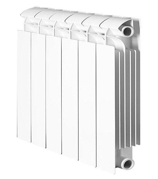 Радиатор отопления Global Style Extra 350 6 секц.Биметаллические<br>Модель радиатора Global (Глобал) Style Extra 350 6 секц. сочетает европейский дизайн с прекрасной теплоотдачей, благодаря большой площади алюминиевого корпуса, сваренного под давлением с внутренней системой стальных коллекторов горизонтального и вертикального направления. Стальная поверхность, с нанесенным специальным защитным слоем, гарантированно выдерживает многолетний срок эксплуатации при, практически полной, нечувствительности к чистоте и щелочности теплоносителя.<br>Особенности секционного радиатора отопления серии Global Style Extra 350:<br><br>Биметаллический секционный радиатор<br>Неразборная конструкция со стальным коллектором<br>Подходит для работы с любым типом теплоносителя: вода, атифриз, пар, масло<br>Межосевое расстояние350 мм<br>Высокая степень надёжности<br>рабочее давление - до 3,5 МПа (35 атм.)<br>давление при гидравлических испытаниях - до до 7.42 МПа (74.2 атм.)<br>разрушающее давление - свыше 6,2 МПа (62 атм.)<br>температура теплоносителя - до 110 С<br>показатель pH теплоносителя - от 7 до 9,5<br>срок службы - не менее 10 лет с даты производства при условии соблюдения инструкций по установке радиаторов и условий их эксплуатации<br>сфера применения - административные, производственные и жилые здания любой этажности<br>Настенный вариант установки<br>Стильный современный облик<br>100% эффективность обогрева<br>Для оптимальной теплоотдачи расстояние между радиатором и полом должно быть больше 100 мм, между радиатором и подоконником не менее 100мм и до стены не должно быть болнее 30 мм<br>Жесткий контроль качества на производстве.<br><br>Тонкий корпус, изящный итальянский дизайн и удобный, настенный монтаж   все это серия радиаторов отопления биметаллического типа Global Style Extra 350 с межосевым расстоянием 350 миллиметров. Все изделия изготовлены по технологии нового поколения, что гарантирует высокую эффективность в теплоотдаче и абсолютную безопасность использования. В подтв