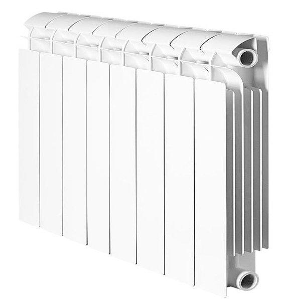 Радиатор отопления Global Style Plus 350 8 секц.Биметаллические<br>Биметаллический радиатор итальянского производителя Global (Глобал) Style Plus 350 8 секц. специально адаптирован к условиям российских систем отопления. Наличие в нем и горизонтальных, и вертикальных стальных внутренних коллекторов, сваренных между собой, делает радиатор нечувствительным к чистоте и составу теплоносителя, гарантирует повышенную прочность и долговечность конструкции.<br>Особенности секционного радиатора отопления серии Global Style Plus 350:<br><br>Биметаллический секционный радиатор<br>Неразборная конструкция со стальным коллектором<br>Подходит для работы с любым типом теплоносителя: вода, атифриз, пар, масло<br>Межосевое расстояние 350 мм<br>Высокая степень надёжности<br>рабочее давление - до 3,5 МПа (35 атм.)<br>давление при гидравлических испытаниях - до 5,25 МПа (52,5 атм.)<br>разрушающее давление - свыше 6,2 МПа (62 атм.)<br>температура теплоносителя - до 110 С<br>показатель pH теплоносителя - от 7 до 9,5<br>срок службы - не менее 10 лет с даты производства при условии соблюдения инструкций по установке радиаторов и условий их эксплуатации<br>сфера применения - административные, производственные и жилые здания любой этажности<br>Настенный вариант установки<br>Стильный современный облик<br>100% эффективность обогрева<br>Для оптимальной теплоотдачи расстояние между радиатором и полом должно быть больше 100 мм, между радиатором и подоконником не менее 100мм и до стены не должно быть болнее 30 мм<br>Жесткий контроль качества на производстве.<br><br>Один из самых популярных итальянских производителей разработал серию биметаллических радиаторов Global Style Plus 350. Все изделия представленного семейства отличаются высоким качеством, невероятной прочностью и устойчивостью к механическим повреждениям, а также эффективностью в работе. Межосевое расстояние всех моделей серии составляет 350 миллиметров, благодаря чему конструкции весьма компактны и великолепно размещаются на стене. Гаран