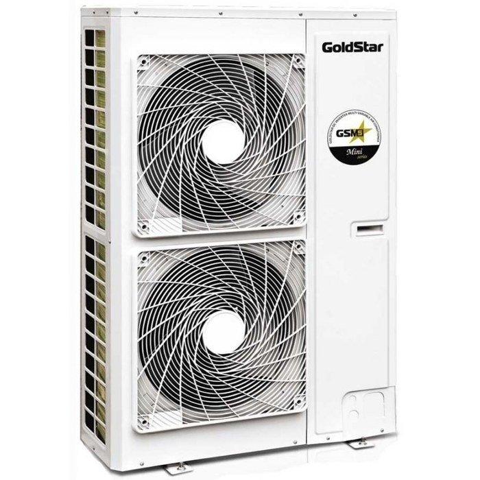 VRF система GoldStar GSM-160/D1VНаружные блоки<br>Производительный и энергоэффективный наружный блок модели GoldStar (ГолдСтар) GSM-160/D1V отличается малогабаритностью корпуса, усовершенствованной конструкцией основных деталей комплектации и современным функциональным оснащением. Умное передовое управление позволит с точностью задавать параметры работы блока и убережет от незапланированных трат электроэнергии. <br>Особенности и преимущества:<br><br>Супер инверторная технология для улучшения производительности.<br>Новый DC-инверторный двигатель вентилятора внешнего блока.<br>Высокоэффективное цифровое управление PFC.<br>Расширенный диапазон условий работы.<br>Бесшумная работа.<br>Интеллектуальная технология управления температурой.<br>Комфортный обогрев.<br>Некоммутативная технология возврата масла при обогреве.<br>Легкий запуск компрессора.<br>Высокая помехоустойчивость.<br>Усовершенствованный высокочастотный трансформатор.<br>Ультрадлинная трасса для более удобного подключения.<br>Совершенная легкость и компактный размер.<br>Простая транспортировка и установка.<br><br>Наружные блоки мультизональных сплит-систем GoldStar отлично подготовлены для длительной эксплуатации в условиях улицы и надежно защищены от внешнего воздействия. Устройства имеют современную изоляцию корпуса; передовая конструкция отвечает за простоту их монтажа. Все представленные модели оснащены лучшей функциональной комплектацией и отличаются высокой производительностью. <br><br>Страна: Китай<br>Производитель: Китай<br>Охлаждение, кВт: 16,0<br>Обогрев, кВт: 18,5<br>Потребление охл, кВт : 4,85<br>Потребление тепло, кВт : 4,67<br>Тип компрессора: Инвертор<br>Уровень шума, дБа: 58<br>Наружная t,C охл.: 5...+48<br>Наружная t,C обогрев: 20...+27<br>EER: 3,30<br>COP: 3,96<br>Питаниев/Гц/Ф: 230/50/1<br>Рабочий ток, А: 33,6/40<br>Диаметр жидкостной линии, дюйм: 3/8<br>Диаметр газовой линии, дюйм: 3/4<br>Тип хладагента Фреон: R410A<br>8721; мощностей подключаемых ВБ, : None<br>Max перепад высот между вн. 