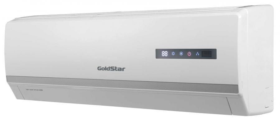 Настенный кондиционер GoldStar GSWH07-NP1A20 м? - 2 кВт<br>Создать комфортные климатические условия внутри городской квартиры, индивидуального дома, офиса или администрации может настенная сплит-система GoldStar (Голдстар) GSWH07-NP1A, которая имеет высокую производительность и качественное исполнение конструкции и всех включающих элементов. Производитель предусмотрел дезодорирующий и плазменный фильтр, 4 скорости вращения вентилятора.<br>Особенности рассматриваемой модели настенного кондиционера серии GoldStar  Life Plus :<br><br>Новинка конца 2015 года!<br>Компактный дизайн.<br>Работа по таймеру.<br>Информационный ЖК-дисплей.<br>Ночной режим.<br>Теплый старт.<br>Объемный воздушный поток.<br>Режим  Турбо  позволяет за минимальное время установить в помещении заданную температуру за счет создания мощного воздушного потока.<br>Система самоочистки способствует высушиванию теплообменника и предотвращает загрязнение внутреннего блока кондиционера.<br>Автоматическая работа.<br>Интеллектуальная разморозка.<br>Эффективное осушение.<br>Авторестарт.<br>Самодиагностика   микропроцессор непрерывно отслеживает все параметры работы кондиционера.<br>Холодная плазма создает здоровую атмосферу в помещении и улучшает качество воздуха.<br>Очистка воздуха.<br>Озонобезопасный хладагент.<br>Энергоэффективность класса  А .<br><br>Life Plus   это эксклюзивно новая линейка настенных кондиционеров, представленная популярным южнокорейским брендом GoldStar. Модели представлены в обновленном современном дизайне, имеют компактные размеры и традиционную, настенную установку. Все кондиционеры семейства оборудованы встроенным фильтром типа  Холодная плазма , который сделает атмосферу в обслуживаемом помещении максимально благоприятной для человека. Угольный фильтр очистит воздух от нежелательных неприятных запахов. <br><br>Горизонтальная регулировка потока: Ручная<br>Страна бренда: Корея<br>Уровень шума, дБа: 50<br>Габариты ВхШхГ, см: 43х73х31<br>Производитель: Корея<br>Площадь, м?: 20<br>Вес, кг: