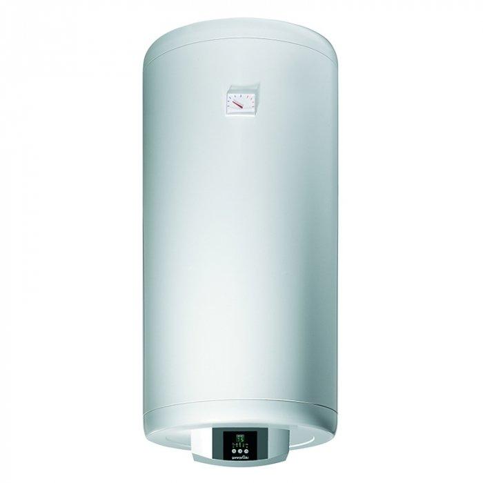 Водонагреватель Gorenje GBFU 50 EDD B650 литров<br>Электрический накопительный водонагреватель Gorenje GBFU 50 EDD B6 оснащен удобным электронным управлением, посредством которого осуществляется максимально точная настройка работы водонагревательной системы. Стоит также отметить, что прибор оснащен цифровым дисплеем, на который выводиться индикация температуры воды и мелкие ошибки.<br>&amp;nbsp;<br>Основные характеристики представленной модели:<br><br>Модели серии GBFU отличает более компактное исполнение &amp;ndash; диаметр454 мм, в то время как модели GBF имеют диаметр500 мм;<br>Модели с индексом &amp;laquo;E&amp;raquo; в названии отличаются панелью управления &amp;mdash; регулировка температуры и выбор режима эксплуатации вынесено на лицевую панель;<br>Модельный ряд представлен 5-ю типоразмерами;<br>Бак классической формы (круглый), монтаж настенный;<br>Универсальное расположение бака &amp;ndash; монтаж в вертикальном или горизонтальном положении;<br>Металлический кожух;<br>&amp;laquo;сухой&amp;raquo; ТЭН &amp;ndash; нагревательный элемент не соприкасается с водой (отсутствие коррозии);<br>2 нагревательный элемента мощностью по 1000 Вт каждый;<br>Материал накопительного бака &amp;ndash; сталь с эмалевым покрытием;<br>Защита от коррозии &amp;ndash; магниевый анод;<br>Управление электронное с помощью терморегулятора;<br>Максимальная температура нагрева 75 С;<br>Визуальный контроль нагрева воды с помощью термометра;<br>Дополнительные функции - индикатор работы ТЭНа, контроль расхода Mg анода (3-хцветный индикатор на ручке терморегулятора);<br>Режимы работы - &amp;laquo;экономный&amp;raquo; и &amp;laquo;защита от замерзания&amp;raquo;;<br>Хорошая теплоизоляция &amp;ndash; толщина слоя 40 мм (у модели объемом 200 литров 25 мм);<br>Гарантия качества от производителя.<br><br>Водонагревательный бак данного модельного ряда изготавливается из цельного стального листа. Инженеры разработали поистине совершенное оборудование, которое осуществляет быстрое приготовление воды и 