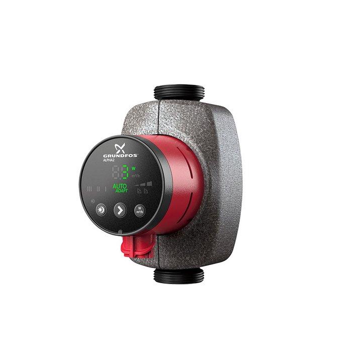 Циркуляционный насос Grundfos ALPHA2 25-80 180Насосы для отопления<br>GrundFos (Грундфос) ALPHA2 25-80 180 представляет собой циркуляционный поверхностный насос с передовым исполнением внешнего корпуса и отличным качеством всех используемых материалов. Рассматриваемое оборудование может эксплуатироваться в нескольких рабочих режимах, позволяющих организовать максимально эффективную отопительную систему в любых условиях.<br>Особенности и преимущества циркуляционных насосов Grundfos представленной серии:<br><br>Компактная конструкция с фронтальной панелью управления, расположенной в верхней части насоса.<br>Режим управления AUTOADAPT в качестве настройки по умолчанию подходит для большинства видов назначения.<br>Встроенная система регулирования перепада давлений (с пропорциональным регулированием и с регулированием постоянного давления).<br>Дисплей, отображающий фактическое энергопотребление (P1) в ваттах.<br>Низкий уровень шума.<br>Высокий пусковой вращающий момент.<br>Автоматическое понижение производительности в ночной период.<br>Двигатель с постоянными магнитами/компактным статором.<br>Встроенный преобразователь частоты.<br>Самовентилирующийся корпус насоса, встроенная тепловая защита.<br>Подходят для использования в системах водоснабжения:<br><br>Систем с постоянным или переменным расходом, в которых необходимо оптимизировать рабочую точку насоса;<br>Систем с переменной температурой в напорном трубопроводе;<br>Систем, в которых необходимо понижение производительности в ночной период.<br><br><br>Торговая марка Grundfos    известный производитель насосного оборудования, родом из Дании. Бренд разработал семейство передовых циркуляционных насосов, которые могут применяться в широком спектре систем водоснабжения. Модельный ряд весьма разнообразен и представлен несколькими модификациями. UPS разработаны для работы с системами отопления и различными системами кондиционирования. ALPHA2 - технологичные насосы, также предназначенные для систем отопления, но имеющие обособл