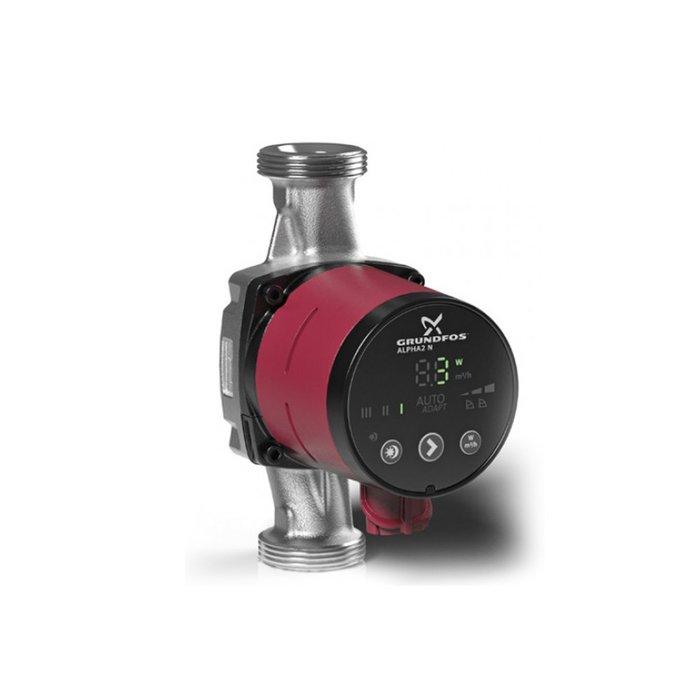 Циркуляционный насос Grundfos ALPHA2 25-80 N 180Насосы для отопления<br>Отличным решением для установки в бытовую отопительную системы является циркуляционный насос GrundFos (Грундфос) ALPHA2 25-80 N 180. Рассматриваемый агрегат работает в нескольких режимах различной направленности и способен с максимальной энергоэффективность балансировать ток горячей воды для организации комфортных температурных условий в обслуживаемых помещениях.<br>Особенности и преимущества циркуляционных насосов Grundfos представленной серии:<br><br>Компактная конструкция с фронтальной панелью управления, расположенной в верхней части насоса.<br>Режим управления AUTOADAPT в качестве настройки по умолчанию подходит для большинства видов назначения.<br>Встроенная система регулирования перепада давлений (с пропорциональным регулированием и с регулированием постоянного давления).<br>Дисплей, отображающий фактическое энергопотребление (P1) в ваттах.<br>Низкий уровень шума.<br>Высокий пусковой вращающий момент.<br>Автоматическое понижение производительности в ночной период.<br>Двигатель с постоянными магнитами/компактным статором.<br>Встроенный преобразователь частоты.<br>Самовентилирующийся корпус насоса, встроенная тепловая защита.<br>Подходят для использования в системах водоснабжения:<br><br>Систем с постоянным или переменным расходом, в которых необходимо оптимизировать рабочую точку насоса;<br>Систем с переменной температурой в напорном трубопроводе;<br>Систем, в которых необходимо понижение производительности в ночной период.<br><br><br>Торговая марка Grundfos    известный производитель насосного оборудования, родом из Дании. Бренд разработал семейство передовых циркуляционных насосов, которые могут применяться в широком спектре систем водоснабжения. Модельный ряд весьма разнообразен и представлен несколькими модификациями. UPS разработаны для работы с системами отопления и различными системами кондиционирования. ALPHA2 - технологичные насосы, также предназначенные для систем отопления, но и