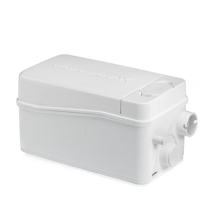 Канализационная установка Grundfos Sololift2 D-2Канализационные установки<br>Высокоэффективная канализационная установка Grundfos (Грундфос) Sololift2 D-2 создана специально для отвода даже грязной воды, а также оборудована абсолютно бесшумным двигателем, что существенно увеличивает комфорт при эксплуатации установки. Данное устройство предполагает установку под душевой кабиной или под умывальником (в зависимости от подключения).<br>Особенности и преимущества канализационных установок Grundfos представленной серии:<br><br>Насосное решение упрощающее установку;<br>Наличие инструкции по установке;<br>Самая высокая надёжность благодаря высоким эксплуатационным характеристикам режущего элемента и двигателя;<br>Быстрое, простое и чистое сервисное обслуживание &amp;ndash; не нужно снимать агрегат с места установки;<br>Сухое исполнение двигателя и всех соответствующих обслуживаемых деталей делает ремонтные работы и техобслуживание простым и чистым;<br>Простой доступ к реле контроля уровня, доступ для технического обслуживания;<br>Герметичная система со сварным баком, отсутствие протечек в случае обратного течения;<br>Отсутствие неприятных запахов благодаря выпускному клапану и угольному фильтру;<br>Не требующая технического обслуживания конструкция бака снижает риск образования осадка и засорения;<br>Установка обладает стойкостью горячей воде до 90 &amp;deg;C в течение 30 минут;<br>Сверхкомпактная конструкция;<br>Низкие уровни пуска позволяют установить современные плоские душевые поддоны;<br>Возможность выбора направления выпускного отверстия (вверх и в сторону);<br>Простая установка и замена впускных соединительных патрубков с регулируемой высотой;<br>Возможность выбора до 4 впускных патрубков и 6 напорных трубных соединений;<br>Все установки одобрены по стандартам LGA, VDE, EMC, GOST.<br><br>SOLOLIFT2 &amp;ndash; это семейство передовых насосных установок для канализации, разработанное торговой маркой Grundfos. Такие предназначены для облегчения слива воды с различного 