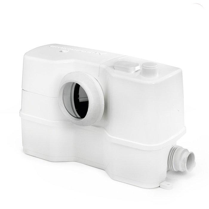 Канализационная установка Grundfos Sololift2 WC-3Канализационные установки<br>Канализационная насосная установка Grundfos (Грундфос) Sololift2 WC-3 оборудована тремя отверстиями для подключения и предназначена для эффективного отвода стоков от душевой кабины, унитаза или умывальника. Прибор устанавливается поверхностно и горизонтальным способом. Двигатель, встроенный в установку, отличается абсолютно бесшумной работой, что увеличивает степень комфорта.<br>Особенности и преимущества канализационных установок Grundfos представленной серии:<br><br>Насосное решение упрощающее установку;<br>Наличие инструкции по установке;<br>Самая высокая надёжность благодаря высоким эксплуатационным характеристикам режущего элемента и двигателя;<br>Быстрое, простое и чистое сервисное обслуживание &amp;ndash; не нужно снимать агрегат с места установки;<br>Сухое исполнение двигателя и всех соответствующих обслуживаемых деталей делает ремонтные работы и техобслуживание простым и чистым;<br>Простой доступ к реле контроля уровня, доступ для технического обслуживания;<br>Герметичная система со сварным баком, отсутствие протечек в случае обратного течения;<br>Отсутствие неприятных запахов благодаря выпускному клапану и угольному фильтру;<br>Не требующая технического обслуживания конструкция бака снижает риск образования осадка и засорения;<br>Установка обладает стойкостью горячей воде до 90 &amp;deg;C в течение 30 минут;<br>Сверхкомпактная конструкция;<br>Низкие уровни пуска позволяют установить современные плоские душевые поддоны;<br>Возможность выбора направления выпускного отверстия (вверх и в сторону);<br>Простая установка и замена впускных соединительных патрубков с регулируемой высотой;<br>Возможность выбора до 4 впускных патрубков и 6 напорных трубных соединений;<br>Все установки одобрены по стандартам LGA, VDE, EMC, GOST.<br><br>SOLOLIFT2 &amp;ndash; это семейство передовых насосных установок для канализации, разработанное торговой маркой Grundfos. Такие предназначены для облегчения с