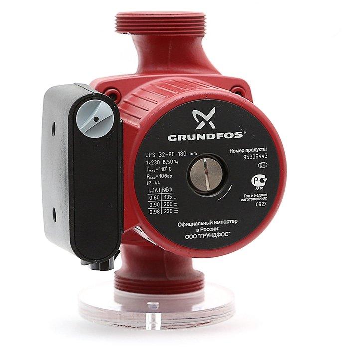 Циркуляционный насос Grundfos UPS32-80 180 1x230V 50Hz 9H RUНасосы для отопления<br>Решили сменить старую систему отопления на более современную, стабильную и экономичную? Вам обязательно пригодится модель циркуляционного насоса &amp;laquo;Grundfos&amp;nbsp; (Грундфос ) UPS32-80 180 1x230V 50Hz 9H RU&amp;raquo;! Изделие отличается высокой производительностью, предусмотрено три ступени мощности, регулировка которой осуществляется специальным рычагом. Одной из особенностей является универсальный вариант установки.<br>Особенности и преимущества циркуляционных насосов Grundfos представленной серии:<br><br>Подходят для использования в системах горячего водоснабжения:<br><br>Однотрубные и двухтрубные системы отопления;<br>Основные насосы;<br>Зональные насосы;<br>Котельные насосы с параллельным всасыванием;<br>Насосы для отопительных поверхностей;<br>Водонагреватели;<br>Системы отопления тёплый пол;<br>Системы солнечного отопления;<br>Теплонасосные системы;<br>Геотермальные системы теплоснабжения;<br>Системы рекуперации тепла;<br>Двухтрубные системы кондиционирования воздуха;<br>Насосы для холодильных установок.<br>Не требуют технического обслуживания.<br>Низкий уровень шума.<br>Низкое энергопотребление.<br>Широкий спектр моделей.<br>Имеются варианты с корпусами из коррозионно-стойкой бронзы.<br>Широкий ассортимент принадлежностей.<br><br><br><br>Торговая марка Grundfos&amp;nbsp; &amp;ndash; известный производитель насосного оборудования, родом из Дании. Бренд разработал семейство передовых циркуляционных насосов, которые могут применяться в широком спектре систем водоснабжения. Модельный ряд весьма разнообразен и представлен несколькими модификациями. UPS разработаны для работы с системами отопления и различными системами кондиционирования. ALPHA2 - технологичные насосы, также предназначенные для систем отопления, но имеющие обособленность -&amp;nbsp; приборы оборудованы специальными автоматическими комплектующими, которые регулируют перепады давления. UP &amp;ndash; насо