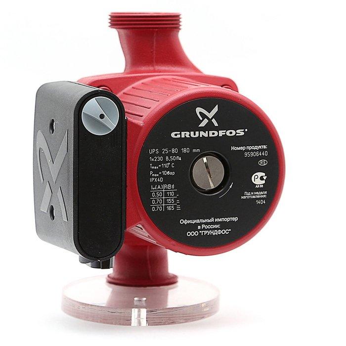 Циркуляционный насос Grundfos UPS 25-80 180Насосы для отопления<br>GrundFos (Грундфос) UPS 25-80 180 представляет собой высокотехнологичный циркуляционный насос нового поколения, оборудованный современными элементами комплектации с улучшенной конструкцией и повышенность прочностью. Такое оборудование эффективно эксплуатируется в любых условиях и предназначено для производительного участия в системах водоснабжения.<br>Особенности и преимущества циркуляционных насосов Grundfos представленной серии:<br><br>Низкий уровень шума.<br>Низкое энергопотребление.<br>Широкий спектр моделей.<br>Имеются варианты с корпусами из коррозионно-стойкой бронзы.<br>Широкий ассортимент принадлежностей.<br>Подходят для использования в системах горячего водоснабжения:<br><br>Однотрубные и двухтрубные системы отопления;<br>Основные насосы;<br>Зональные насосы;<br>Котельные насосы с параллельным всасыванием;<br>Насосы для отопительных поверхностей;<br>Водонагреватели;<br>Системы отопления тёплый пол;<br>Системы солнечного отопления;<br>Теплонасосные системы;<br>Геотермальные системы теплоснабжения;<br>Системы рекуперации тепла;<br>Двухтрубные системы кондиционирования воздуха;<br>Насосы для холодильных установок.<br>Не требуют технического обслуживания.<br><br><br><br>Торговая марка Grundfos    известный производитель насосного оборудования, родом из Дании. Бренд разработал семейство передовых циркуляционных насосов, которые могут применяться в широком спектре систем водоснабжения. Модельный ряд весьма разнообразен и представлен несколькими модификациями. UPS разработаны для работы с системами отопления и различными системами кондиционирования. ALPHA2 - технологичные насосы, также предназначенные для систем отопления, но имеющие обособленность -  приборы оборудованы специальными автоматическими комплектующими, которые регулируют перепады давления. UP   насосное оборудование для работы с системами горячего водоснабжения. В интернет-магазине mircli.ru циркуляционные насосы Grundfos  вы можете п