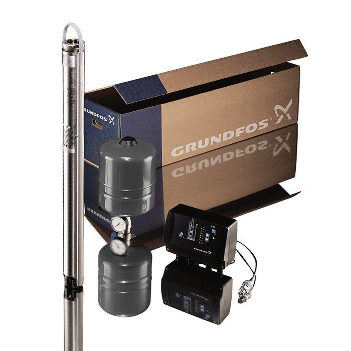 Комплект для поддержания постоянного давления  Grundfos с насосом SQE2-115Скважинные станции<br>Для организации системы водоснабжения на садовых участках, в загородных, дачных домах или коттеджах наш магазин подготовил  Grundfos (Грундфос) Комплект для поддержания постоянного давления с насосом SQE2-115 . Модель насоса отличается высокой производительностью, установка возможна в любом положении. В комплекте также можно найти расширительный бак, кабель и блок управления.<br>Особенности и преимущества скважинных насосных станций Grundfos серии SQE:<br><br>Способ запуска:     прямой пуск.<br>Только для чистой воды.<br>Установка в любом положении.<br>Автоматика слежения за уровнем воды.<br>Бесшумный двигатель.<br>В состав комплекта входит:<br><br>комплектообразующий насос;<br>блок управления и контроля;<br>напорный вертикальный мембранный;<br>датчик давления;<br>манометр;<br>запорный шаровый кран;<br>хомуты для крепления кабеля к водоподъемной трубе.<br><br><br><br>Компания Grundfos представляет линейку насосных станций, разработанных для повсеместного использования. Такая станция представляет собой скважинный насос, укомплектованный специальным гидробаком, который обеспечивает, с одной стороны, поддержания на рабочем уровне давления в обслуживаемой системе, а с другой   небольшим запасом воды. Представленное оборудование отличается высоким качеством исполнения, а также наличием системы защиты, которая гарантирует абсолютную безопасность эксплуатации приборов. В интернет-магазине mircli.ru насосные станции Grundfos представлены несколькими моделями, которые отличаются не только производительностью и напором, но также объемом накопительной емкости.<br><br>Страна: Дания<br>Производитель: Дания<br>Производ. л/мин: 50<br>Объем бака, л: 8<br>Мощность, Вт: 2540<br>Напряжение сети, В: 220 В<br>Max напор, м: 155<br>Рабочая глубина, м: None<br>Max темп. жидкости, С: 35<br>диаметр подсоединения, дюйм: 1 1/4<br>Класс защиты: Нет<br>Качество воды: Чистая<br>Материал бака: Металл<br