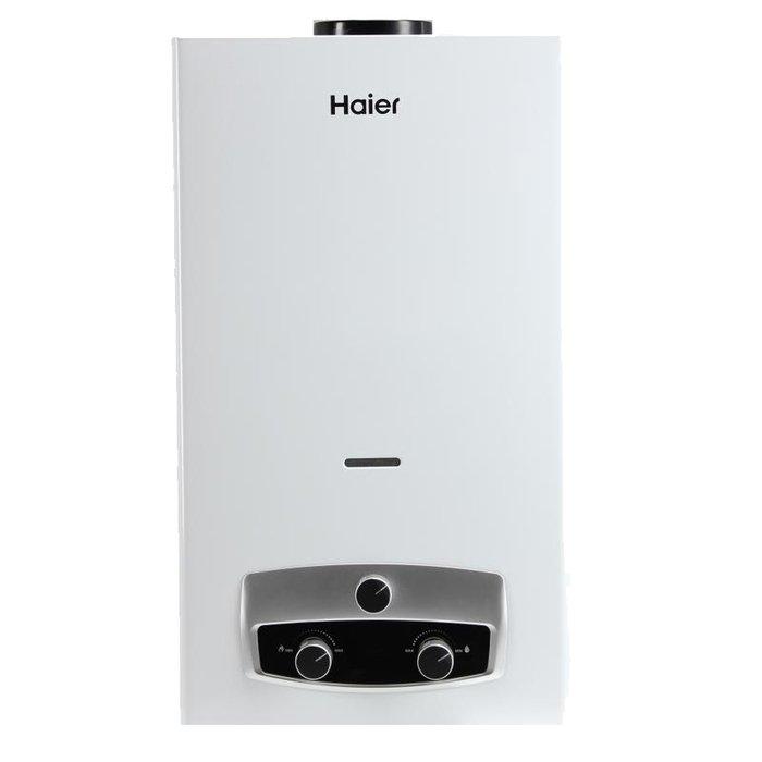 Водонагреватель Haier IGW 10 B16-21 кВт<br>Haier (Хаер) IGW 10 B   это современный и компактный газовый водонагреватель проточного типа с удобным высокоточным управлением, передовым дизайном и отличными рабочими характеристиками. Эргономичная конструкция данного устройства обеспечивает легкость его установки, а использование для создания такой модели только качественных материалов увеличивает срок службы.<br>Особенности и преимущества водонагревателя Haier представленной модели:<br><br>Оснащена LED дисплеем, теплообменником из качественной меди и электронным розжигом от батареек.<br>Предусмотрены режимы работы  зима/лето , есть система защиты от обратной тяги, предохранительная система от перегрева и электрод ионизации.<br>Может работать как на природном, так на сжиженном газе.<br>Отвод продуктов сгорания производится по дымовой трубе, которую легко можно подсоединить к коллективному дымоходу.<br><br>Haier представляет современную линейку проточных газовых водонагревателей бытового типа IGW. Модели исполнены из долговечных высококачественных материалов, устойчивы к воздействию влажности и в течение долгого времени производительно эксплуатируются без обслуживания. Представлена передовая высокоточная система управления температурой нагрева воды.<br><br>Страна: Китай<br>Производитель: Китай<br>Способ нагрева: Газовый<br>Производительность: 10,0<br>Темп. нагрева, С: 80<br>Давление на входе: 1320<br>Мощность, кВт: 20,0<br>Тип камеры: Открытая<br>Дисплей: Да<br>Защита: от перегрева; от обратной тяги; от затухания пламени<br>Установка: Настенная<br>Розжиг: Электророзжиг<br>Теплообменник: Медный<br>Модуляция мощности: Да<br>Габариты ШхВхГ, см: 32x54x14<br>Вес, кг: 10<br>Гарантия: 2 года<br>Ширина мм: 320<br>Высота мм: 540<br>Глубина мм: 140