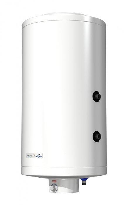 Бойлер косвенного нагрева Hajdu AQ IND FC 100 настенный100 литров<br> <br>Водонагреватель Hajdu IND F 100 в исполнении настенного монтажа позволяет установить прибор в любом удобном месте, не занимая свободное пространство в помещении.<br>Высокая производительность прибора обусловлена качественным теплоизоляционным материалом и медным погружным теплообменником, обладающим высоким коэффициентом теплопроводности.<br>Вода, приготовленная в бойлере, может использоваться не только в бытовых, но и в пищевых нуждах.<br> Особенности прибора:<br><br>Нагрев от отопительного котла<br>Возможность подключения ТЭНа<br>Может обслуживать несколько точек потребления одновременно<br>Вода пригодна для пищевых и санитарных нужд<br>Рабочий бак покрыт стеклокерамической эмалью<br>Экологически чистая теплоизоляция<br>Погружной нагревательный элемент изготовлен из меди<br>Большой магниевый анод<br>Терморегулятор со сменными контактами<br>Термостат с двойной защитой<br>Предохранительный клапан для сброса избыточного давления<br>Световой индикатор нагрева воды<br>Внешний кожух изготовлен из листовой стали<br>Корпус прибора покрыт порошковой эмалью белого цвета<br>Настенное вертикальное исполнение<br>Гарантия на готовое изделие 2 года<br>Гарантия на внутренний бак 7 лет<br><br>Водонагреватели косвенного нагрева   один из наиболее рациональных способов нагрева и сбережения запаса теплой воды, особенно в тех случаях, когда интенсивность расхода горячей воды колеблется, а основная система отопления работает на более дешевых и более производительных котлах   твердотопливном или газовом. Как правило, косвенные водонакопители используют для снабжения санитарной горячей водой домов и загородных коттеджей, офисов или промышленных учреждений.<br>Принцип действия таких водонагревателей прост: нагревательный элемент прибора (ТЭН) подключается к котлу, установленному во главе отопительной системы, и вода или антифриз, циркулирующие по отопительной системе, проходя по ТЭНу бойлера нагревает воду, находящу