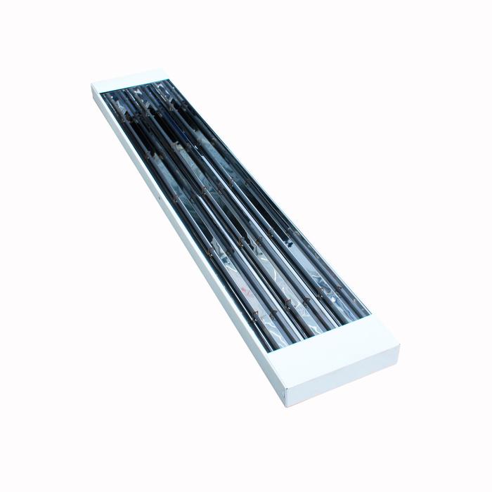 Инфракрасный обогреватель Hintek IO- 45 (открытый ТЭН)4 кВт<br>Модель Hintek (Хинтек) IO- 45 (открытый ТЭН)   это высокомощный инфракрасный обогреватель, исполненный в новейшем стальном корпусе и  отличающийся непревзойденной эффективностью в работе. Представленный агрегат является идеальным решением для установки на любых участках, нуждающихся в качественном обогреве, и имеет высокий класс защиты от внешних воздействий.<br>Особенности и преимущества рассматриваемой модели инфракрасного обогревателя Hintek:<br><br>Зональный экономичный обогрев;<br>Отсутствие тепловых потерь;<br>Экономия электроэнергии (расход на 20-70% меньше, чем обычные отопительные приборы конвекционного типа);<br>Быстрый нагрев помещения;<br>Экономия свободного пространства (установка под потолком);<br>Простой и быстрый монтаж/демонтаж;<br>Экологически безопасны (не выделают продуктов сгорания, не сжигают кислород и не требуют дополнительной вентиляции);<br>Снижают вероятности образования сырости и появления вредоносных микробов;<br>Бесшумны.<br>Кроме того, в этой модели обогревателя реализована возможность поддерживать температуру помещения на постоянном уровне и задавать график обогрева с помощью терморегулятора.<br><br>Инфракрасные обогреватели от бренда Hintek   это линейка надежных современных моделей с классическим эргономичным внешним исполнением и высокоэффективными ТЭНами. Материалы, которые производительно использовал для создания представленных обогревателей, характеризуются непревзойденным качеством; корпуса термостойки и не подвержены износу. <br><br>Страна: Россия<br>Производитель: Россия<br>Мощность, кВт: 4,5<br>Площадь, м?: 45<br>Класс защиты: IP24<br>Регулировка мощности: Да<br>Встроенный термостат: Да<br>Тип установки: Потолочная<br>Отключение при перегреве: Есть<br>Пульт: Нет<br>Габариты ШВГ, см: 136x30,5x4,5<br>Вес, кг: 8<br>Гарантия: 2 года<br>Ширина мм: 1360<br>Высота мм: 305<br>Глубина мм: 45