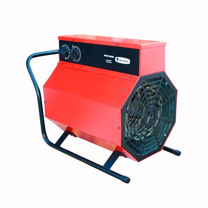 Тепловая пушка Hintek PROF-0938010 кВт<br>Тепловая пушка модели Hintek (Хинтек) PROF-09380 была изготовлена для быстрого отопления помещений. Благодаря встроенному в общую комплектацию ТЭНу из нержавеющей стали, прибор не  выжигает  кислород из воздуха и подходит для частого использования. Оборудование отличается компактностью и работает практически бесшумно. Высокопрочный корпус агрегата устойчив к коррозии и механическому давлению из внешней среды.<br>Особенности рассматриваемой модели тепловой пушки Hintek PROF:<br><br>Тепловые пушки создают и поддерживают комфортные температурные условия на рабочем месте   производственные помещения: цеха, мастерские, бытовки и др.<br>Тепловые пушки, регулируя температуру воздуха от 0 до 40 С, создают комфортные условия в помещении.<br>ТЭН из нержавеющей стали не сжигает кислород.<br>Тепловые пушки защищены от перегрева.<br>Прочный стальной корпус защищенный от коррозии.<br>Низкий уровень шума тепловых пушек обеспечивает бесшумный электродвигатель.<br>Евроразьем с ответной частью поставляется в комплектацию с моделями тепловых пушек 5-9 кВт.<br><br>Тепловые пушки Hintek PROF изготовлены специально для быстрого и качественного обогрева пространства. Приборы идеально подойдут для использования на строительных объектах или в производственных цехах. Благодаря встроенному в каждую модель из серии ТЭНу из нержавеющей стали, оборудование не сжигает кислород из воздуха при работе. Агрегаты защищены от перегрева и работают практически бесшумно. <br><br>Страна: Россия<br>Тип: Электрическая<br>Мощность, кВт: 9,0<br>Площадь, м?: 90<br>Скорость потока м/с: None<br>Расход топлива, кг/час: None<br>Расход воздуха, мsup3;/ч: 720<br>Нагревательный элемент: Трубчатый<br>Вместимость бака, л: None<br>Регулировка температуры: Есть<br>Вентиляция без нагрева: Есть<br>Настенный монтаж: Нет<br>Влагозащитный корпус: Нет<br>Напряжение, В: 380 В<br>Вилка: Есть<br>Размеры ВхШхГ, см: 28х41х52<br>Вес, кг: 13<br>Гарантия: 1 год