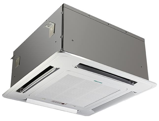 Кассетный кондиционер Hisense AUC-24HR4SGA/AUW-24H4SZ17.0 кВт - 24 BTU<br>Кассетный кондиционер Hisense (Хайсенс) AUC-24HRSAA/AUW-24H4SU1 предназначен для поддержания комфортного климата внутри помещения и, при необходимости, подачи свежего воздуха внутрь, избегая открывания окон и дополнительной установки вентиляционного оборудования. Прибор оснащен функцией подмеса наружного воздуха в воздушной массе, циркулирующей через прибор, благодаря чему в помещении постоянно поддерживается нормальный и комфортный уровень кислорода.<br>Особенности и преимущества кассетных кондиционеров Hisense серии Heavy Classic:<br><br>Воздушный поток 4D<br>Усиленная циркуляция воздуха в режиме обогрева<br>Низкий уровень шумовой нагрузки<br>Дополнительные режимы: Smart, Super, Sleep<br>Наличие функции  I feel <br>Долговечный воздушный фильтр легко снимается<br>Функции авторестарта и самодиагностики<br>Функция самоочистки<br>Таймер<br>Пульт дистанционного управления<br>Возможность подключения проводного пульта управления<br>Возможность подключения к прибору детектора карты доступа и датчика дыма<br>Дренажный насос<br>Возможность обеспечения притока уличного воздуха<br>Корпус внутреннего блока из оцинкованной стали<br>PE-изоляция корпуса прибора<br>Элегантный дизайн лицевой панели<br><br>Серия кассетных кондиционеров Hisense Heavy Classic сочетает в себе экономичность и высокую производительность, достаточный набор функций и высокие эксплуатационные характеристики, гарантированную надежность и невысокую цену. Воздух, распространяемый в четырех направлениях, быстро разносит по помещению кондиционированный воздух, наполняя всю атмосферу комфортом и уютом.<br> <br><br>Страна: Китай<br>Площадь, м?: 75<br>Охлаждение, кВт: 7,45<br>Обогрев, кВт: 7,5<br>Компрессор: Не инвертор<br>Расход воздуха, мsup3;/ч: 1100<br>Осушение, л/час: None<br>Длина трассы, м: 50<br>Режимы работы: холод / тепло<br>Режим приточной вентиляции: Есть<br>Сенсор движения: Нет<br>Фильтры тонкой очистки воздуха: Нет<br>Уровень шу