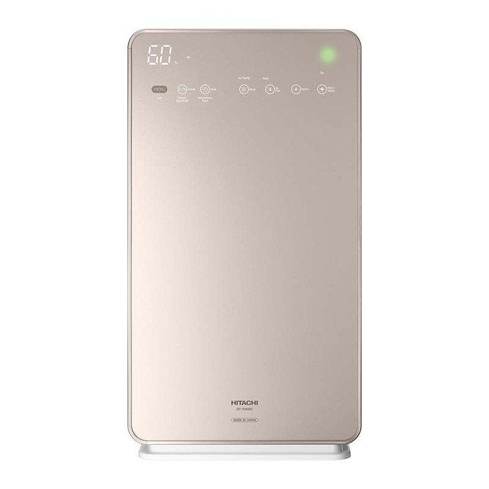 Очиститель воздуха Hitachi EP-A9000 CHОчистка + Увлажнение<br>Hitachi (Хитачи) EP-A9000 CH   это мойка воздуха, которая одновременно и очищает и увлажняет. Агрегат выполнен в современном дизайне с электронной панелью управления и укомплектован дистанционным пультом. Очиститель-увлажнитель оснащен дезодорирующим фильтром, который устраняет неприятные запахи.  Также имеется фильтр тонкой очистки, обеспечивающий устранение самых мельчайших загрязняющих частиц.<br>Особенности и преимущества климатических комплексов Hitachi серии EP-A:<br><br>Стеклянная лицевая панель<br>Сенсорная панель управления<br>Технология Stainless Clean<br>Воздуховоды устройства имеют покрытие из нержавеющей стали, что позволяет поддерживать чистоту внутри воздухоочистителя и облегчает обслуживание фильтров<br>Использование ионов серебра усиливает антибактериальное действие<br>Высокопроизводительный дезодорирующий фильтр<br>Большая мощность<br>Эффективно очищает воздух в помещении площадью до 68 кв. м<br>Мощное увлажнение (800 мл/ч)<br>Поток воздуха до 9 м3/мин<br>Функция увлажнения<br>Антиаллергенный фильтр HEPA<br>Эко-режим (снижает потребление энергии до 14% по сравнению с режимом  Бесшумно )<br><br>Hitachi серии EP-A   это многофункциональные гаджеты, которые созданы специально для комфортного микроклимата в доме или офисе. Устройства с легкостью производят очищение воздуха от самых мельчайших загрязняющих частиц с помощью HEPA-фильтра, устраняют неприятные запахи и аллергены. Одновременно с этим агрегаты могут производить увлажнение воздуха, чтобы поддерживать оптимальный водный баланс. Режимы работы задаются очень просто: с помощью дистанционного пульта или эргономичной панели управления.<br><br>Страна: Япония<br>Производитель: Япония<br>S очистки, м?: 68<br>S увлажнения, м?: 68<br>Воздухообмен, мsup3;/ч: 540<br>Колво режимов работы: 3<br>Сенсоры качества воздуха: Нет<br>Газоанализатор: Нет<br>Датчик пыли: Нет<br>Предварительный фильтр: Нет<br>НЕРАфильтр: Да<br>Угольный фильтр: Нет<br>Элект