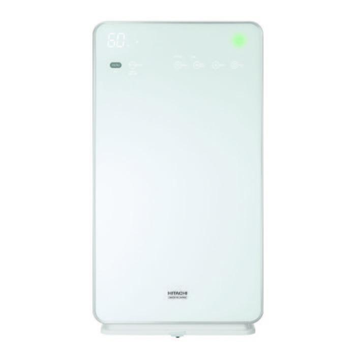 Очиститель воздуха Hitachi EP-M70E WHОчистка + Увлажнение<br>Очиститель воздуха Hitachi (Хитачи) EP-M70E WH, помимо прочего, имеет увлажняющий фильтр, который насытит влагой очищенный воздух. Данная модель работает очень тихо, что обеспечивает комфорт ее эксплуатации. Прибор может работать в стандартном режиме, а также в специальном энергосберегающем режиме. Очиститель-увлажнитель выполнен в стильном корпусе белого цвета, внешний облик которого будет отлично гармонировать с современными интерьерами.<br>Особенности и преимущества климатических комплексов Hitachi серии EP- M:<br><br>Стеклянная лицевая панель<br>Сенсорная панель управления<br>Технология Stainless Clean<br>Воздуховоды устройства имеют покрытие из нержавеющей стали, что позволяет поддерживать чистоту внутри воздухоочистителя и облегчает обслуживание фильтров<br>Использование ионов серебра усиливает антибактериальное действие<br>Высокопроизводительный дезодорирующий фильтр<br>Большая мощность<br>Эффективно очищает воздух в помещении площадью до 52 кв. м<br>Мощное увлажнение (700 мл/ч)<br>Поток воздуха до 7,2 м3/мин<br>Функция увлажнения<br>Антиаллергенный фильтр HEPA<br>Эко-режим (снижает потребление энергии по сравнению с режимом &amp;laquo;Бесшумно&amp;raquo;)<br>Цвет: Жемчужно белый<br><br>Hitachi серии EP-M &amp;mdash; это многофункциональные гаджеты, которые созданы специально для комфортного микроклимата в доме или офисе. Устройства с легкостью производят очищение воздуха от самых мельчайших загрязняющих частиц с помощью&amp;nbsp;HEPA-фильтра, устраняют неприятные запахи и аллергены. Одновременно с этим агрегаты могут производить увлажнение воздуха, чтобы поддерживать оптимальный водный баланс. Режимы работы задаются очень просто: с помощью дистанционного пульта или эргономичной панели управления.<br><br>Страна: Япония<br>Производитель: Япония<br>S очистки, м?: 53<br>S увлажнения, м?: 53<br>Воздухообмен, мsup3;/ч: 432<br>Колво режимов работы: 3<br>Сенсоры качества воздуха: Нет<br>Газоанализатор: Нет
