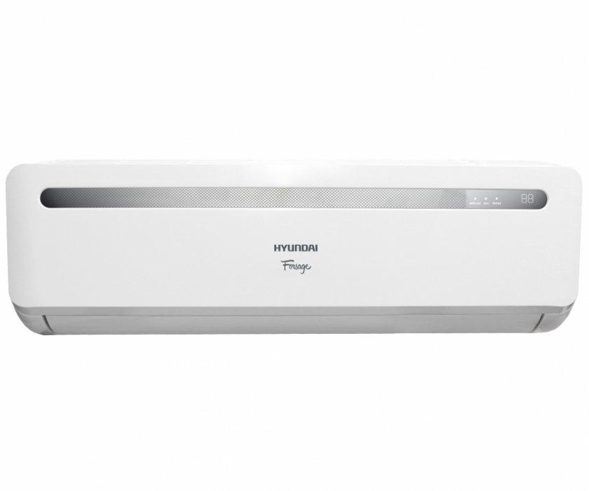 Настенный кондиционер Hyundai H-AR1-18H-UI01355 м? - 5.5 кВт<br>Современный кондиционер HyundaiH-AR1-18H-UI013 имеет красивый дизайн и огромное количество полезных функций. Модельный ряд FORSAGE отличается от аналогов своей супер скоростью, благодаря чему достижение запрограммированный параметров температуры осуществляется в 3 раза быстрее.  Специальный ресурс памяти Memory Resource, который сохраняет ранее заданные функции, что существенно упрощает процесс управления. Все регулируется с помощью пульта ДУ  слайдер .<br><br>Отключаемый климат-контроль Climate Control<br>Активируемая функция температурного контроля вблизи пользователя одним нажатием кнопки Climate Control<br>Регулярный обмен данными о температуре между пультом дистанционного управления и кондиционером<br>Расширенный ресурс памяти Memory Resource<br>Управление сохраненными настройками одним нажатием кнопки Memory<br>Быстрый выход на максимальную мощность по охлаждению одним нажатием кнопки Maxi<br>Антибактериальный фильтр очистки воздуха Silver ion в комплекте<br>Тонизирующий ионизатор воздуха<br>Полноценный осушитель воздуха до 67 литров в сутки для межсезонного использования<br>Режим вентиляции без понижения температуры в помещении<br>Автоматический поиск и поддержание комфортной температуры Auto<br>Авторестарт при возобновлении электропитания<br>Таймер на включение и отключение 24 часа<br>Автоматический режим ночного времени и комфортного сна Sleep<br>Уникальный пульт-слайдер с максимальными возможностями дистанционного управления прибором<br><br>Климатическое оборудование способно быстро и эффективно создавать благоприятные климатические изменения. Кондиционер оснащен функцией Climate Control, благодаря чему функционирование осуществляется по принципу регулярного обмена собранными данными о температуре между оборудованием и пультом дистанционного регулирования. Благодаря такой работе температура около внутреннего блока достигает 23 градусов по Цельсию, а температурный режим около пользователя равно