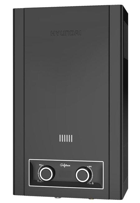 Водонагреватель Hyundai H-GW1-AMBL-UI30616-21 кВт<br>Газовый проточный водонагреватель 20 кВт без дымохода&amp;nbsp;Hyundai (Хендай) H-GW1-AMBL-UI306&amp;nbsp;&amp;ndash; это автоматическая колонка газовая проточного типа в неповторимом металлическом корпусе цвета черный металлик, который не оставит равнодушным даже тех, кто рассматривает в первую очень рабочие характеристики оборудования.&amp;nbsp; Данное устройство может так же обратить на себя внимание благодаря комплексной системе защиты, которая функционирует благодаря определенным конструкторским особенностям.<br><br>Страна: Корея<br>Производитель: Китай<br>Способ нагрева: Газовый<br>Производительность: 10<br>Темп. нагрева, С: 75<br>Давление на входе: 0.148 атм<br>Мощность, кВт: 20,0<br>Тип камеры: Открытая<br>Дисплей: Да<br>Защита: Газконтроль<br>Установка: Настенная<br>Розжиг: Электророзжиг<br>Теплообменник: Медный<br>Модуляция мощности: Нет<br>Габариты ШхВхГ, см: 32.8x55x18<br>Вес, кг: 8<br>Гарантия: 1 год<br>Ширина мм: 328<br>Высота мм: 550<br>Глубина мм: 180