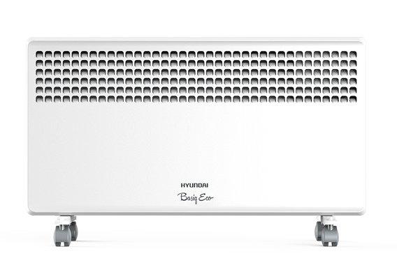 Конвектор электрический Hyundai H-HV7-10-UI63910 м? - 1.0 кВт<br>Визуально приятный и стильный&amp;nbsp; электроконвектор Hyundai (Хендай) H-HV7-10-UI639 оснащен монолитным нагревательным элементом, который может похвастаться сверхдолгим сроком службы, и надежным медным термостатом для регулировки необходимых показателей температуры. Нагревательный элемент имеет три степени мощности. Управление устройства электронное, интуитивно понятное.<br>Особенности и преимущества электрических конвекторов Hyundai серии Basiq Elle:<br><br>Технология объемной тепловой волны.<br>Монолитный нагревательный элемент со сроком службы более 25 лет.<br>Три ступени мощности нагревательного элемента.<br>Простое интуитивно понятное управление.<br>Высококачественный термостат на основе медного сплава.<br>Класс влагозащиты корпуса IP24.<br>Компактный французский типоразмер.<br>Настенная и напольная установка.<br>Датчик защиты от перегрева.<br>Электронный термостат.<br>Универсальный современный дизайн.<br>Эргономичная устойчивая конструкция.<br><br><br>Basiq Elle &amp;ndash; еще одна новинка от торговой марки Hyundai. Это высокоэффективные электрические конвекторы, оснащенные точным электронным термостатом. В арсенале преимуществ агрегатов такие качества, как аккуратная сборка, первоклассные комплектующие, удобное управление, наличие защитной системы, исключающей перегрев приборов, стильный дизайн и повышенный ресурс работы. Семейство представлено тремя моделями, мощностью 1,0 кВт, 1,5 кВт и 2,0 кВт, которые могут обслуживать закрытые помещения площадью 10, 15 и 20 квадратных метров соответственно. Кроме того, приборы представлены в двух цветовых вариантах: белом и глянцевом черном. Как т все оборудование под этим брендом, обогреватели Basiq Elle надежны и долговечны, они смогут дарить вам мягкое тепло на протяжении долгих лет. Интернет-магазин mircli.ru электрические конвекторы Hyundai реализует по весьма демократичной цене. В нашем онлайн-каталоге посетители найдут широкий ассортимент прибор