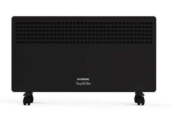 Конвектор электрический Hyundai H-HV9-10-UI64610 м? - 1.0 кВт<br>Конвектор электрический Hyundai (Хендай) HHV9-10-UI646 обладает черным лаконичным корпусом, может выступить самодостаточным или дополнительным источником обогрева в помещения различного типа и назначения. Внутри конструкции   надежный монолитный элемент для нагрева воздуха. Устройство начинает работу по насыщению помещения теплым воздуха в течение нескольких секунд после включения.<br>Особенности и преимущества электрических конвекторов Hyundai серии Basiq Elle:<br><br>Технология объемной тепловой волны.<br>Монолитный нагревательный элемент со сроком службы более 25 лет.<br>Три ступени мощности нагревательного элемента.<br>Простое интуитивно понятное управление.<br>Высококачественный термостат на основе медного сплава.<br>Класс влагозащиты корпуса IP24.<br>Компактный французский типоразмер.<br>Настенная и напольная установка.<br>Датчик защиты от перегрева.<br>Электронный термостат.<br>Универсальный современный дизайн.<br>Эргономичная устойчивая конструкция.<br><br><br>Basiq Elle   еще одна новинка от торговой марки Hyundai. Это высокоэффективные электрические конвекторы, оснащенные точным электронным термостатом. В арсенале преимуществ агрегатов такие качества, как аккуратная сборка, первоклассные комплектующие, удобное управление, наличие защитной системы, исключающей перегрев приборов, стильный дизайн и повышенный ресурс работы. Семейство представлено тремя моделями, мощностью 1,0 кВт, 1,5 кВт и 2,0 кВт, которые могут обслуживать закрытые помещения площадью 10, 15 и 20 квадратных метров соответственно. Кроме того, приборы представлены в двух цветовых вариантах: белом и глянцевом черном. Как т все оборудование под этим брендом, обогреватели Basiq Elle надежны и долговечны, они смогут дарить вам мягкое тепло на протяжении долгих лет. Интернет-магазин mircli.ru электрические конвекторы Hyundai реализует по весьма демократичной цене. В нашем онлайн-каталоге посетители найдут широкий ассортимент приборов,