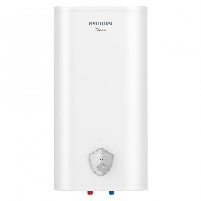 Электрический накопительный водонагреватель Hyundai H-SWS7-50V-UI41150 литров<br>Пятидесятилитровый водонагреватель накопительного типа   Hyundai (Хендай) H-SWS7-50V-UI411 представляет собой высокотехнологичное современное устройство, предназначенное для нагрева бытовой воды. Корпус устройства изготовлен из белоснежного пластика, внутреннее покрытие   нержавеющая сталь. Дизайнерская панель управления придется по душе каждому пользователю.<br>Особенности рассматриваемой модели водонагревателя серии Saimaa:<br><br>Внутренние резервуары   нержавеющая сталь<br>Надежный медный ТЭН мощностью 2000 Вт<br>Индикация режимов работы: сеть и нагрев воды<br>Плотный слой высококачественной термоизоляции, выполненный по технологии высокоточного запенивания   эффект термоса, сокращение теплопотерь<br>Увеличенный магниевый анод  для дополнительной защиты сварных швов внутренних баков<br>Авторская панель управления Мirror Shield<br><br>Hyundai Saimaa    серия стильных и эффективных в работе водонагревателей с зеркальной панелью управления. Модели выполнены в плоском настенном корпусе, подводка коммуникаций   нижняя. Внутренние резервуары водонагревателей исполнены из нержавеющей стали высокого качества, также предусмотрен магниевый анод. На корпусе устройство предусмотрены световые индикаторы работы.<br><br>Страна: Корея<br>Производитель: Китай<br>Способ нагрева: Электрический<br>Нагревательный элемент: Медный<br>Объем, л: 50<br>Темп. нагрева, С: None<br>Мощность, кВт: 2.0<br>Напряжение сети, В: 220 В<br>Плоский бак: Да<br>Узкий бак Slim: Нет<br>Магниевый анод: Да<br>Колво ТЭНов: 1<br>Дисплей: Нет<br>Сухой ТЭН: Нет<br>Защита от перегрева: None<br>Покрытие бака: Нерж. сталь<br>Тип установки: Вертикальная<br>Подводка: Нижняя<br>Управление: Механическое<br>Размеры ШхВхГ, см: 48.5x90.5x29.5<br>Вес, кг: 15<br>Гарантия: 3 года<br>Ширина мм: 485<br>Высота мм: 905<br>Глубина мм: 295