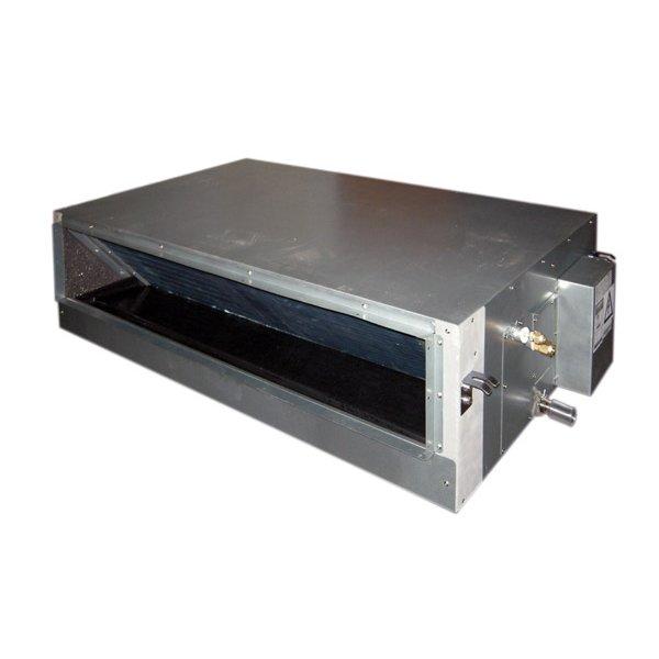 Канальный кондиционер IGC IDM-18HM/U5.5 кВт - 18 BTU<br>IGC IDM-18HM/U   это компактный и производительный канальный кондиционер, который идеально подходит для монтажа в очень узком межпотолочном пространстве. Устройство такого типа отлично подходит для службы на объектах административного, либо промышленного назначения, оно характеризуется стабильностью и эффективностью в работе, а также очень надежно.<br>Особенности и преимущества канальных сплит-систем ICG:<br><br>Универсальны в применении, высота 18й модели всего 190 мм, что позволяет встраивать блок даже в тонкий фальш-потолок.<br>Благодаря использованию воздуховодов можно достичь отличных показателей по части вентиляции внутренних помещений.<br>Возможна организация притока свежего воздуха через дополнительное отверстие во внутреннем блоке.<br>Проводной пульт управления.<br>Два варианта забора воздуха.<br>Трубки теплообменника с внутренним оребрением.<br>Система самодиагностики и защиты.<br>Встроена дренажная ванночка.<br><br>Канальные сплит-системы ICG представляют собой семейство современных высокотехнологичных климатических устройств, каждое из которых было исполнено из передовых особопрочных материалов и оснащено надежной внутренней комплектацией. Все модели отличаются разными характеристиками, а также габаритами. Имеется удобная система быстрой очистки кондиционеров. <br><br>Страна: Великобритания<br>Производитель: Китай<br>Охлаждение, кВт: 5,3<br>Обогрев, кВт: 6,0<br>Площадь, м?: 50<br>Компрессор: Не инвертор<br>Потребляемая мощность охлаждения, Квт: 2,13<br>Потребляемая мощность обогрева, Квт: 1,76<br>Воздухообмен, мsup3;/ч: 816<br>Габариты внеш. блока ВШГ: 550x770x300<br>Габариты внут. блока, ВШГ: 635x920x210<br>Осушение, л/час: None<br>Уровень шума внеш/внутр.б., Дба: 58/36<br>Вес внеш. блока, Кг: 36,5<br>Вес внутр. блока, Кг: 24<br>Длина трассы, м: 15<br>Режимы работы: Холод / тепло<br>Режим приточной вентиляции: Есть<br>Сенсор движения: Нет<br>Фильтры тонкой очистки воздуха: Нет<br>Гарантия: 3 года