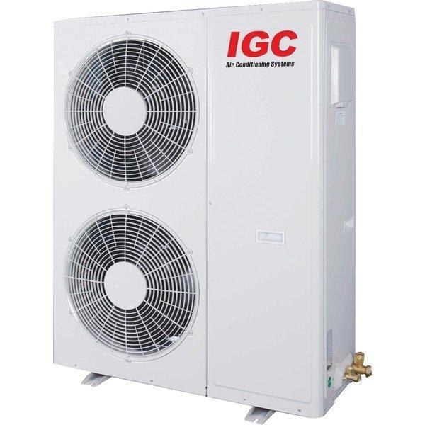 VRF система IGC IMS-EM160NHНаружные блоки<br>IGC IMS-EM160NH   это мощный и компактный наружный блок передового поколения, используемый в современных климатических системах на объектах разного типа. Такое оборудование безопасно используется при низких уличных температурах, детали его комплектации отлично защищены от коррозионного воздействия. Блок характеризуется комфортно низким уровнем шума. <br>Особенности и преимущества:<br><br>Инверторные компрессоры HITACHI<br>Пластинчатый теплообменник<br>Увеличенный и улучшенный конденсатор<br>Мировой уровень энергоэффективности при работе на охлаждение и обогрев.<br>Управление процессом масловыравнивания<br>Коррозионностойкий теплообменник<br>Защита компрессоров<br>Максимальная  теплопроизводительность при низкой температуре окружающего воздуха<br>Гибкая  прокладка трубопровода на большую длину и высоту<br>Оптимизированное распределение хладагента<br>Автоматическое сохранение данных<br>Хладагент R410A<br>Соответствие требованиям Директивы ЕС об ограничении использовании  вредных веществ (RoHS)<br>Соответствие требованиям Директивы ЕС об отработанном электрическом и электронном оборудовании (WEEE)<br><br>Мультизональные системы кондиционирования от торговой марки IGC помогут организовать комфортные микроклиматические условия в нескольких помещениях сразу. Это могут быть торговые центры, спорзалы, музеи, промышленные комплексы, гостиницы и т.д. Наружные блоки таких систем имеют  возможность совместной работы с несколькими внутренними модулями, но в отличие от мультисплит-систем, возможность VRF-систем не ограничивается 2-8 комнатами: это оборудование может качественно обслуживать десятки помещений, причем многие из внешних модулей дают возможность эксплуатировать внутренние блоки в разных режимах, одновременно на охлаждение и обогрев!<br><br>Страна: Великобритания<br>Производитель: Китай<br>Охлаждение, кВт: 16,0<br>Обогрев, кВт: 17,0<br>Потребление охл, кВт : 4,95<br>Потребление тепло, кВт : 4,85<br>Тип компрессора: Инвертор<