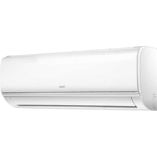 Настенный кондиционер IGC RAC 24 NHM70 м? - 7 кВт<br>Лаконичная настенная сплит-система с пультом дистанционного управления IGC RAC 24 NHM поможет вам сделать жилищные условия максимально комфортными за счет поддержания в помещениях квартиры или индивидуального дома необходимой температуры воздуха в любое время года. Представленная модель отличается высокой эффективностью, есть возможность регулировать направление воздушного потока.<br>Основные достоинства рассматриваемой модели настенной сплит-системы:<br><br>Компрессор GMCC<br>Режим осушения<br>Горячий запуск<br>Ночной режим<br>Функция самоочистки<br>Быстрое охлаждение<br>Интеллектуальное размораживание<br>Система самодиагностики и защиты<br>Функция Follow me обеспечивает заданную температуру рядом с пультом ДУ<br>Авторестарт<br>Отвод дренажа с 2-х сторон<br>Био HEPA-фильтр задерживает аллергены: пыльцу, споры плесени, шерсть и другие примеси в воздухе<br>Антиформальдегидный фильтр<br>Датчик утечки хладагента<br>Ионизатор<br>Высокоэффективные фильтры грубой очистки<br>24-х часовой таймер<br>Проекционный LED-дисплей<br>Класс энергоэффективности: А<br><br>Высокотехнологичные настенные системы кондиционирования IGC Mild от надежного бренда, которому можно доверять, идеально подойдут для малогабаритных, средних и больших жилых или офисных помещений. Представленные в серии модели &amp;mdash; это новое решение в мире климатического оборудования, которое имеет Wi-Fi управление, оснащено надежным японским компрессором и фильтрами глубокой очистки.<br><br>Горизонтальная регулировка потока: Нет<br>Уровень шума, дБа: 60<br>Страна бренда: Великобритания<br>Габариты ВхШхГ, см: 70,2x84,5x36,3<br>Производитель: Китай<br>Вес, кг: 49<br>Компрессор: Не инвертор<br>Площадь, м?: 70<br>Уровень шума, дБа: 44<br>Режим работы: холод/тепло<br>Охлаждение, кВт: 7,0<br>Габариты ВхШхГ, см: 32,7x104x22<br>Обогрев, кВт: 7,3<br>Вес, кг: 13<br>Потребление при охлаждении, кВт: 2,503<br>Потребление при обогреве, кВт: 2,280<br>Охлаждающая способност