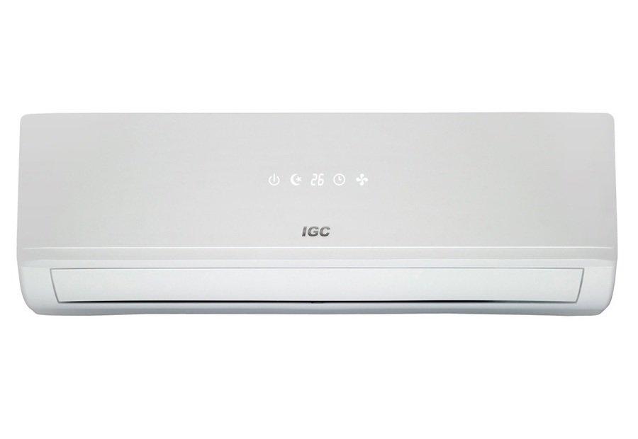 Настенный кондиционер IGC RAC V24NX70 м? - 7 кВт<br>Инверторная сплит-система с режимами обогрева и охлаждения IGC RAC V24NX поможет вам создать в доме максимально комфортные для жизни климатические условия. Внутренний блок системы кондиционирования имеет современное и визуально привлекательное исполнение и надежную конструкцию. Особенностью представленной модели является наличие двух угольных фильтров, системы самодиагностики и самоочистки.<br>Основные достоинства рассматриваемой модели настенной сплит-системы:<br><br>Компрессор GMCC<br>Горячий запуск<br>Ночной режим<br>Быстрое охлаждение<br>Интеллектуальное размораживание<br>Система самодиагностики и защиты<br>Авторестарт<br>Воздушный фильтр<br>Активный угольный фильтр<br>Ионизатор<br>24-х часовой таймер<br>Встроенная LED-панель<br>Класс энергоэффективности: А<br><br>Работающие на обогрев и охлаждение, системы кондиционирования воздуха с настенным вариантом монтажа внутреннего блока IGC Comfort имеют богатый функционал и оснащены дезодорирующим фильтром и генератором анионов, что нейтрализует вредные химические соединения и устраняет неприятные запахи   это позволяет добиться максимально комфортных климатических условий.<br><br>Уровень шума, дБа: 62<br>Горизонтальная регулировка потока: Нет<br>Страна бренда: Великобритания<br>Производитель: Китай<br>Габариты ВхШхГ, см: 65x90,2x30,7<br>Компрессор: Инвертор<br>Вес, кг: 49<br>Площадь, м?: 70<br>Режим работы: холод/тепло<br>Уровень шума, дБа: 47<br>Габариты ВхШхГ, см: 31,3x103,3x20,2<br>Охлаждение, кВт: 7,03<br>Обогрев, кВт: 7,18<br>Вес, кг: 14<br>Потребление при охлаждении, кВт: 2,19<br>Потребление при обогреве, кВт: 1,97<br>Охлаждающая способность, тыс. BTU: 24<br>Диапазон t на охлаждение, С: 0...+48<br>Диапазон t на обогрев, С: 15...+30<br>Расход воздуха, м3/ч: 1100<br>Хладагент: R410A<br>Max длина трассы, м: 20<br>диаметр газовой трубы, дюйм: 5/8<br>диаметр жидкостной трубы, дюйм: 3/8<br>Фильтр тонкой очистки: Нет<br>Плазменный фильтр: Нет<br>Предварительный фильт